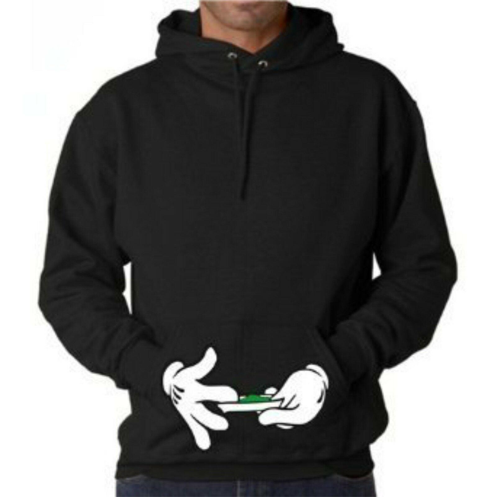Cartoon Hands Hoodie Sweatshirt Pullover Blunt Joint Kush Rolling 420 weed leaf