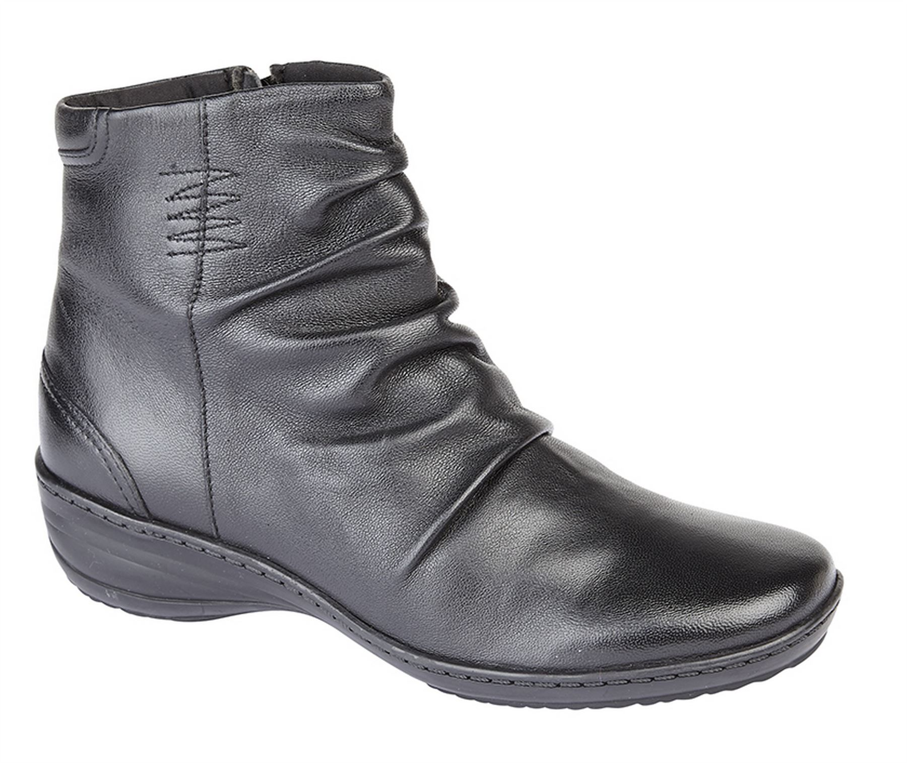 Ladies Womens Ankle Boots Inside Zip Gusset Memory Foam Shoes Size