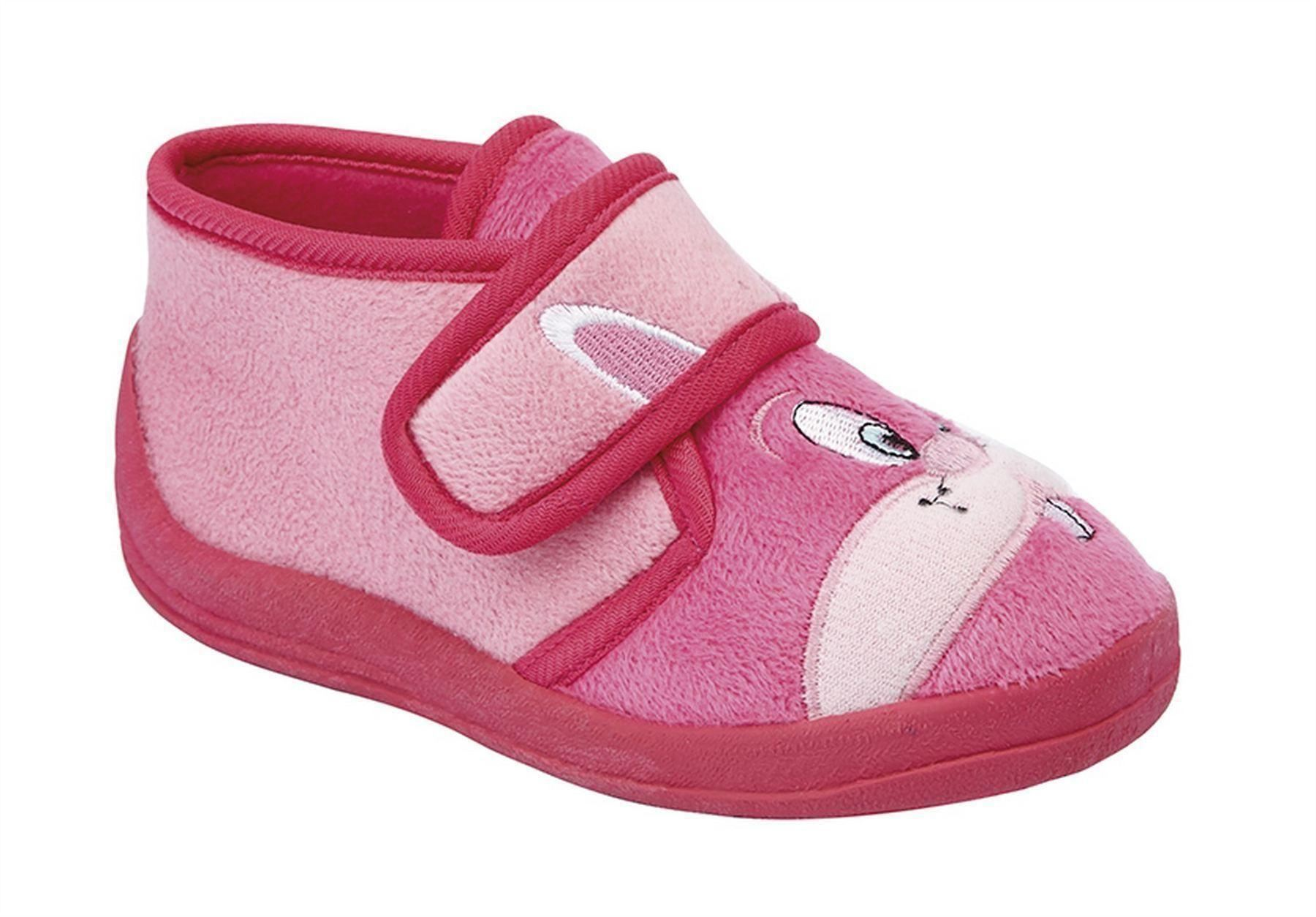 Infant Baby Girls Touch Fastening Rabbit Bootee Ankle Slippers Shoes