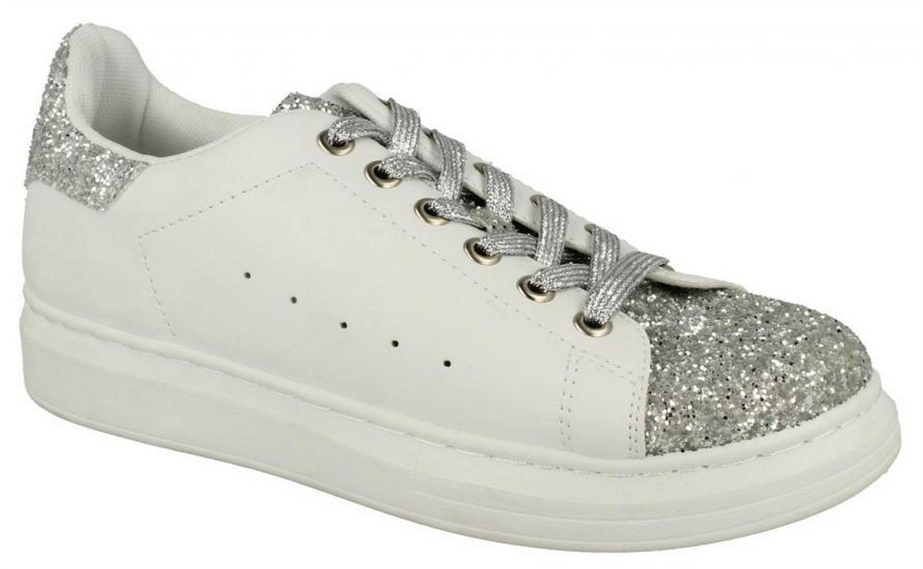 Ladies Trainers lace Up Style -F8981   sizes UK 3 - UK 8