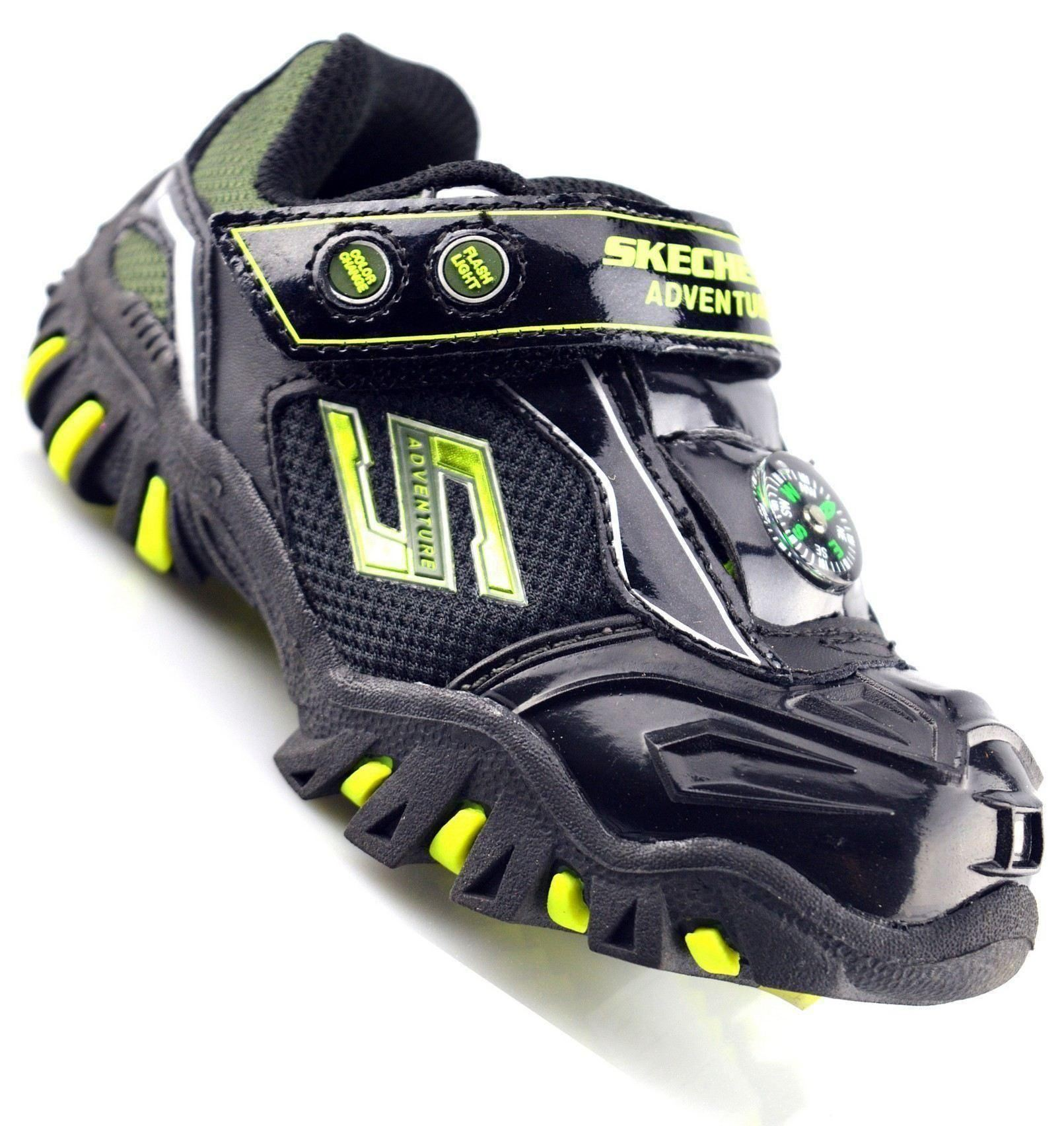 Infant Baby Boys Kids Touch Fastening Skechers Light up Trainers