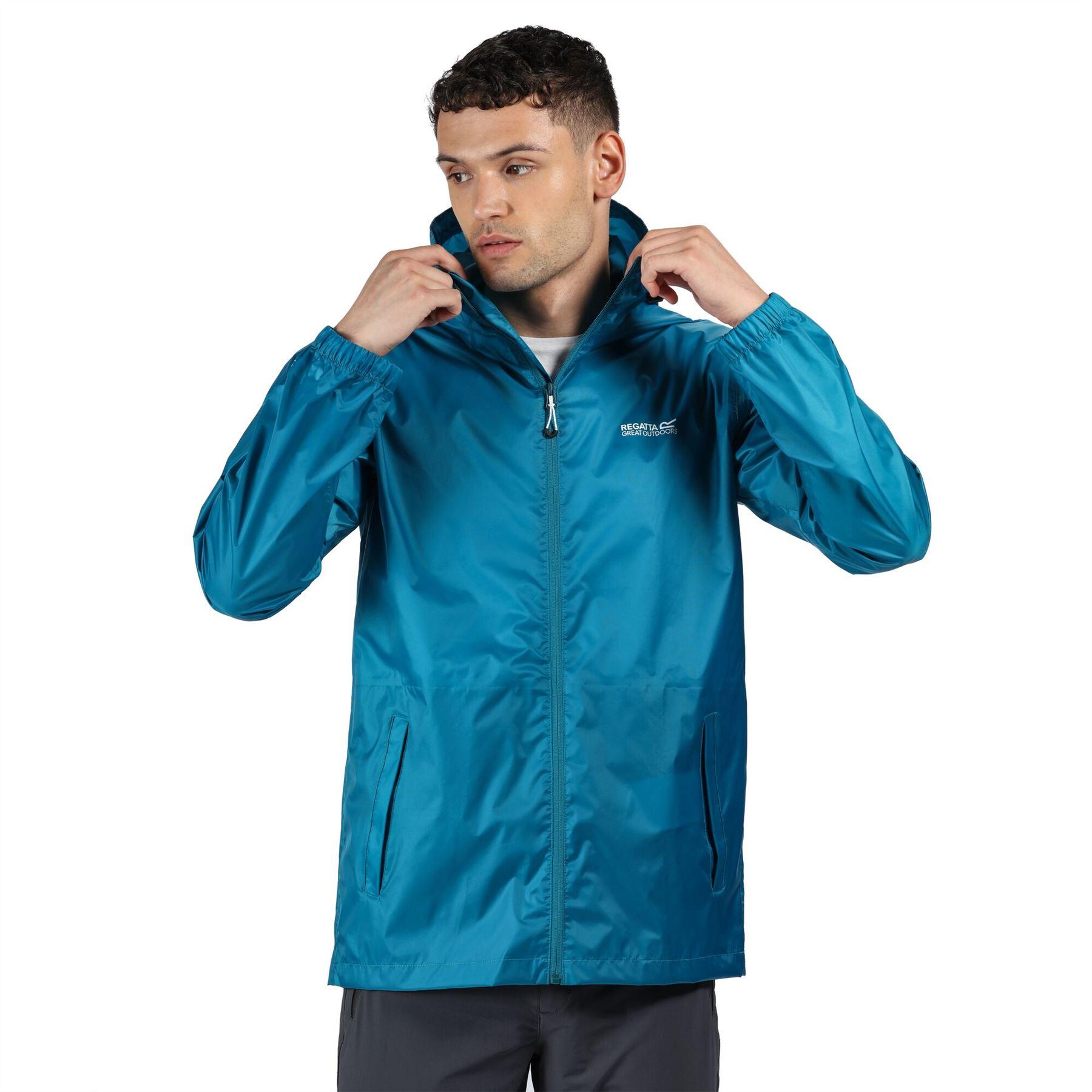 miniatuur 30 - Regatta Mens Pack-it In a bag Packable Waterproof Jacket Outdoor Pack a mac
