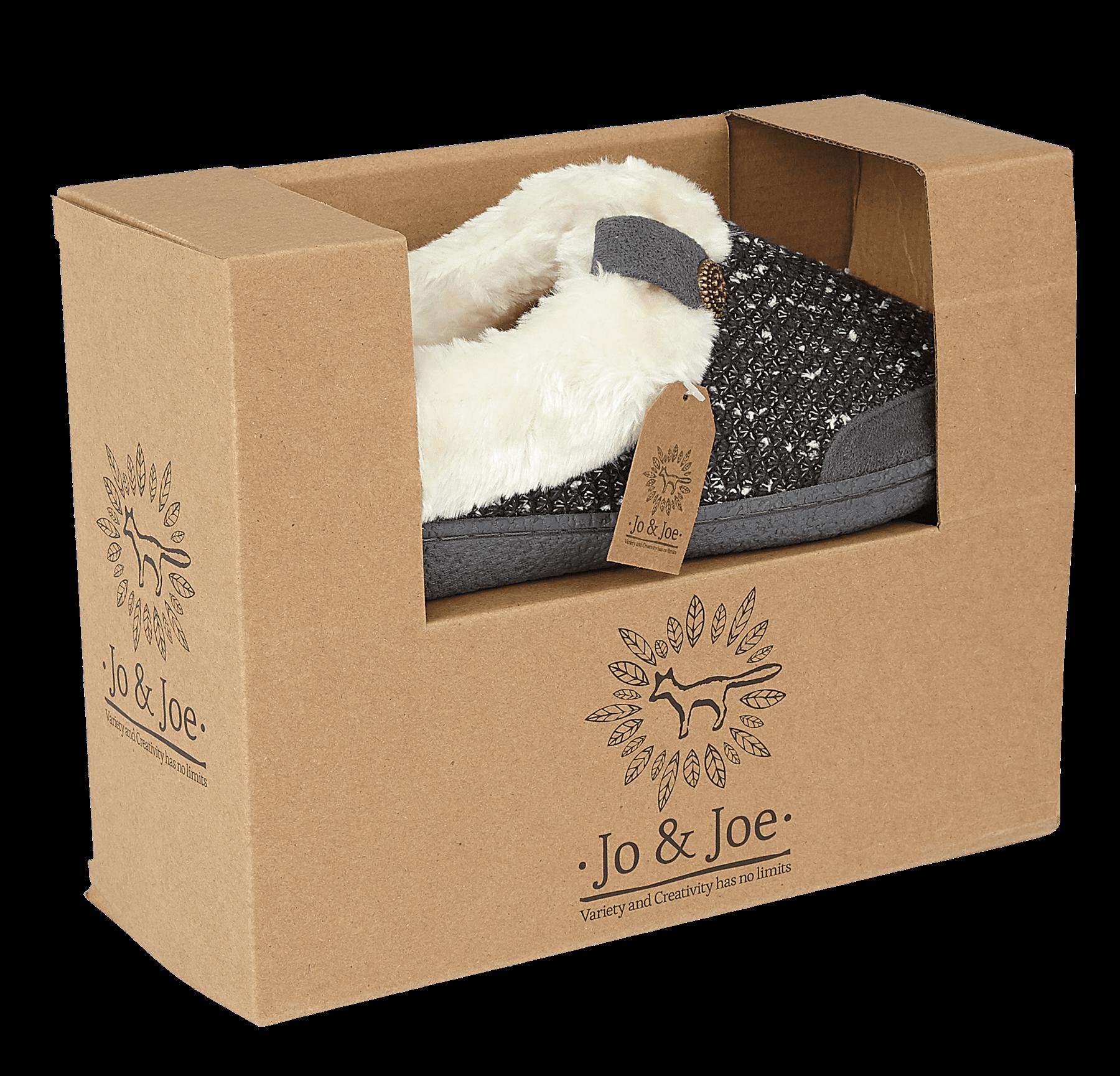 miniatuur 10 - Jo & Joe Womens Luxury Slippers Winter Warm Fur Slip On Flat Mule Bootie Girls