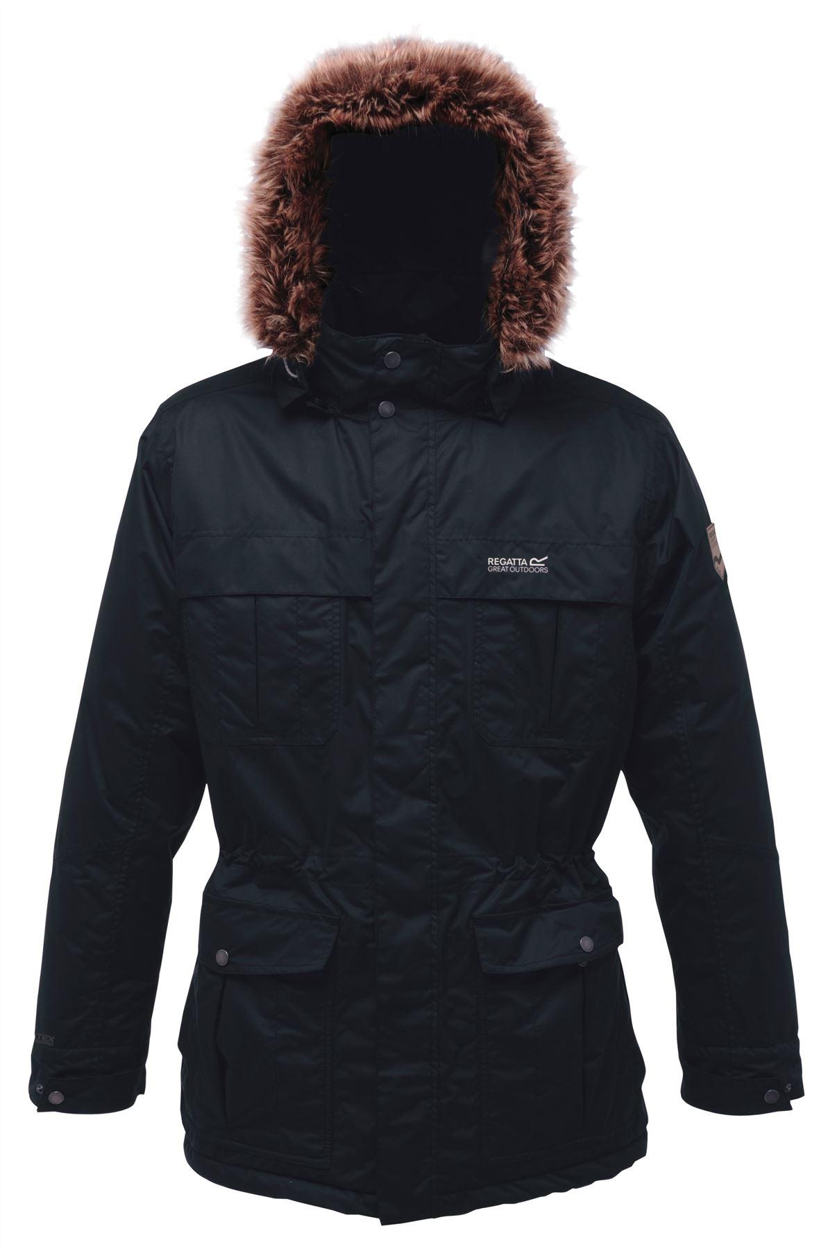 Regatta Mens SALTON Waterproof Breathable Thermo Insulated Parka Jacket Coat