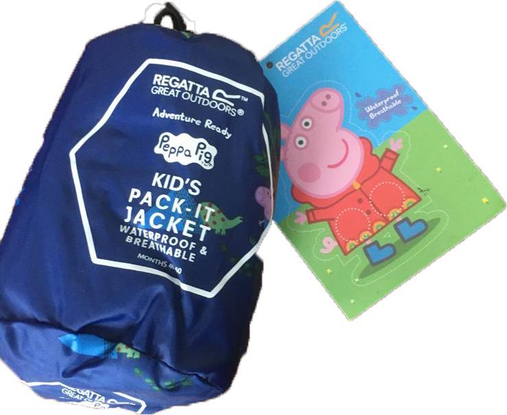 miniatuur 23 - Regatta Kids Pack it Jacket II Lightweight Waterproof Packaway Jacket Boys Girls