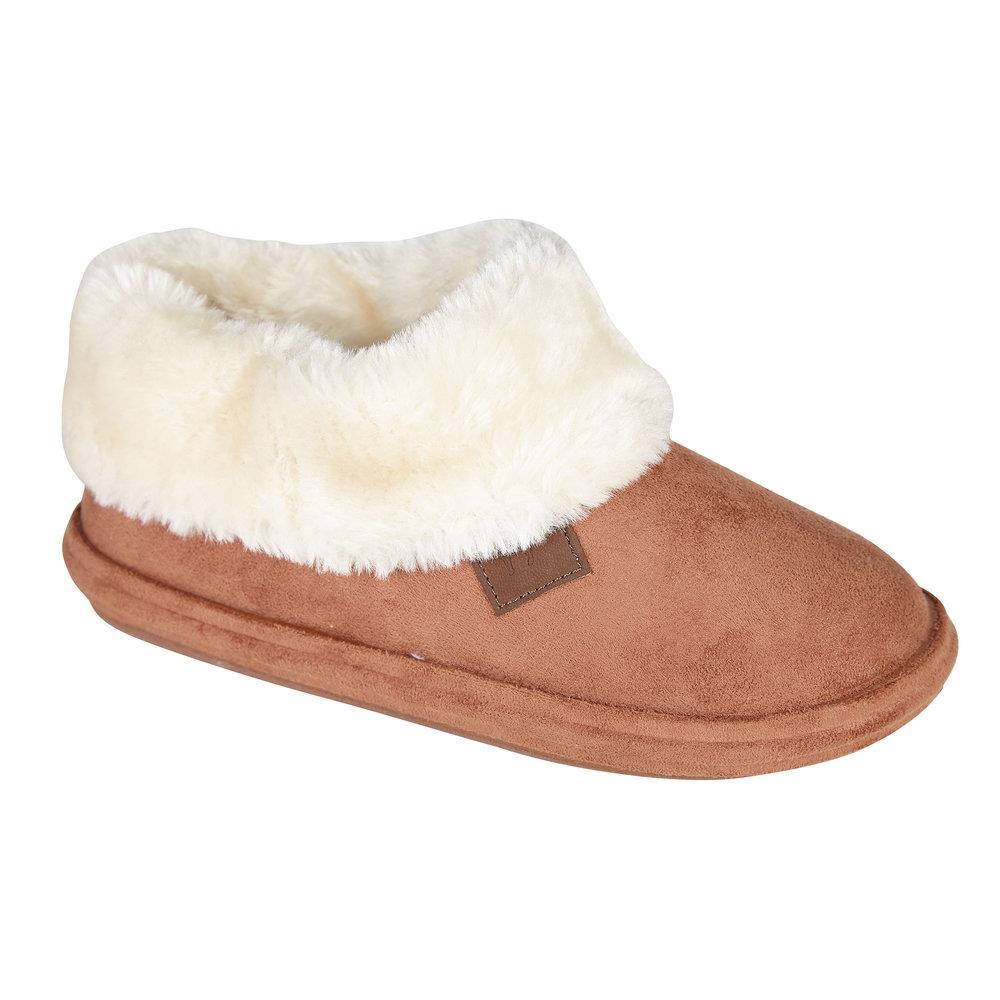 miniatuur 5 - Jo & Joe Womens Luxury Slippers Winter Warm Fur Slip On Flat Mule Bootie Girls
