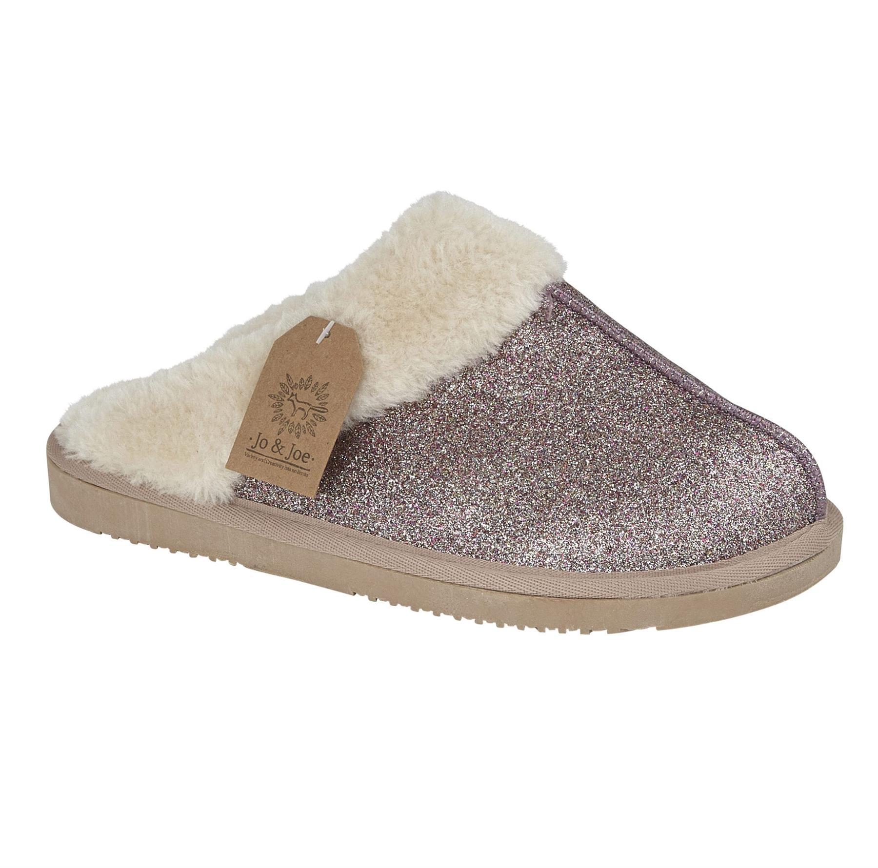 miniatuur 26 - Jo & Joe Womens Luxury Slippers Winter Warm Fur Slip On Flat Mule Bootie Girls