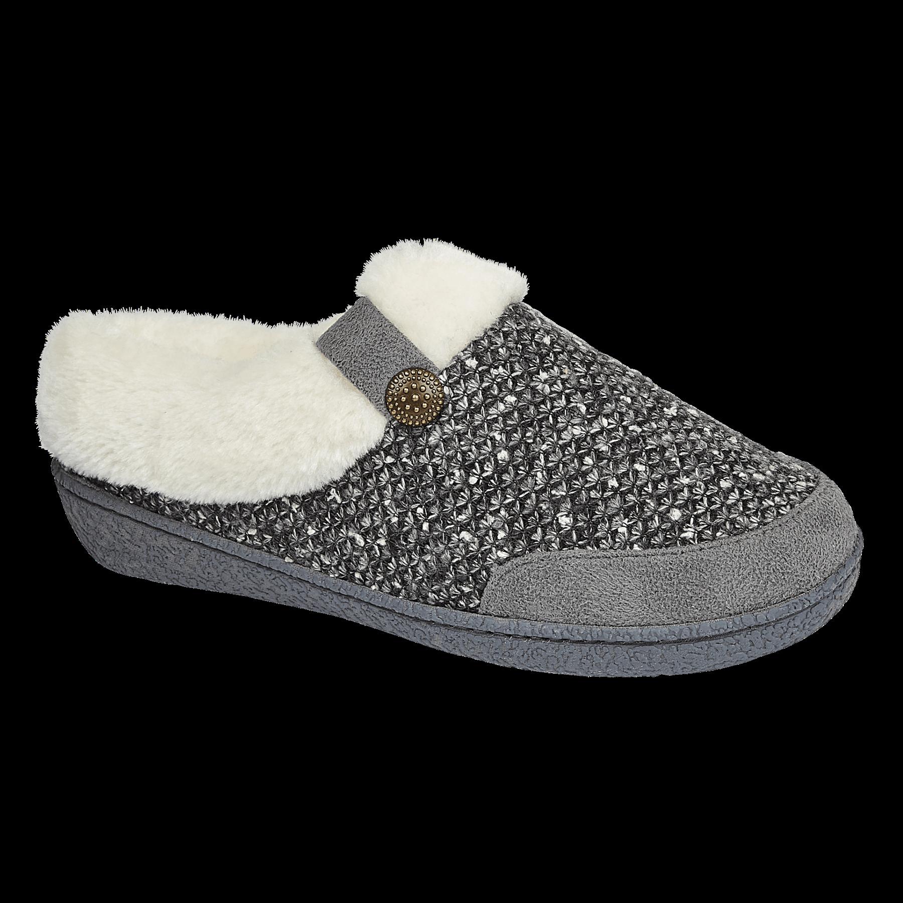 miniatuur 9 - Jo & Joe Womens Luxury Slippers Winter Warm Fur Slip On Flat Mule Bootie Girls