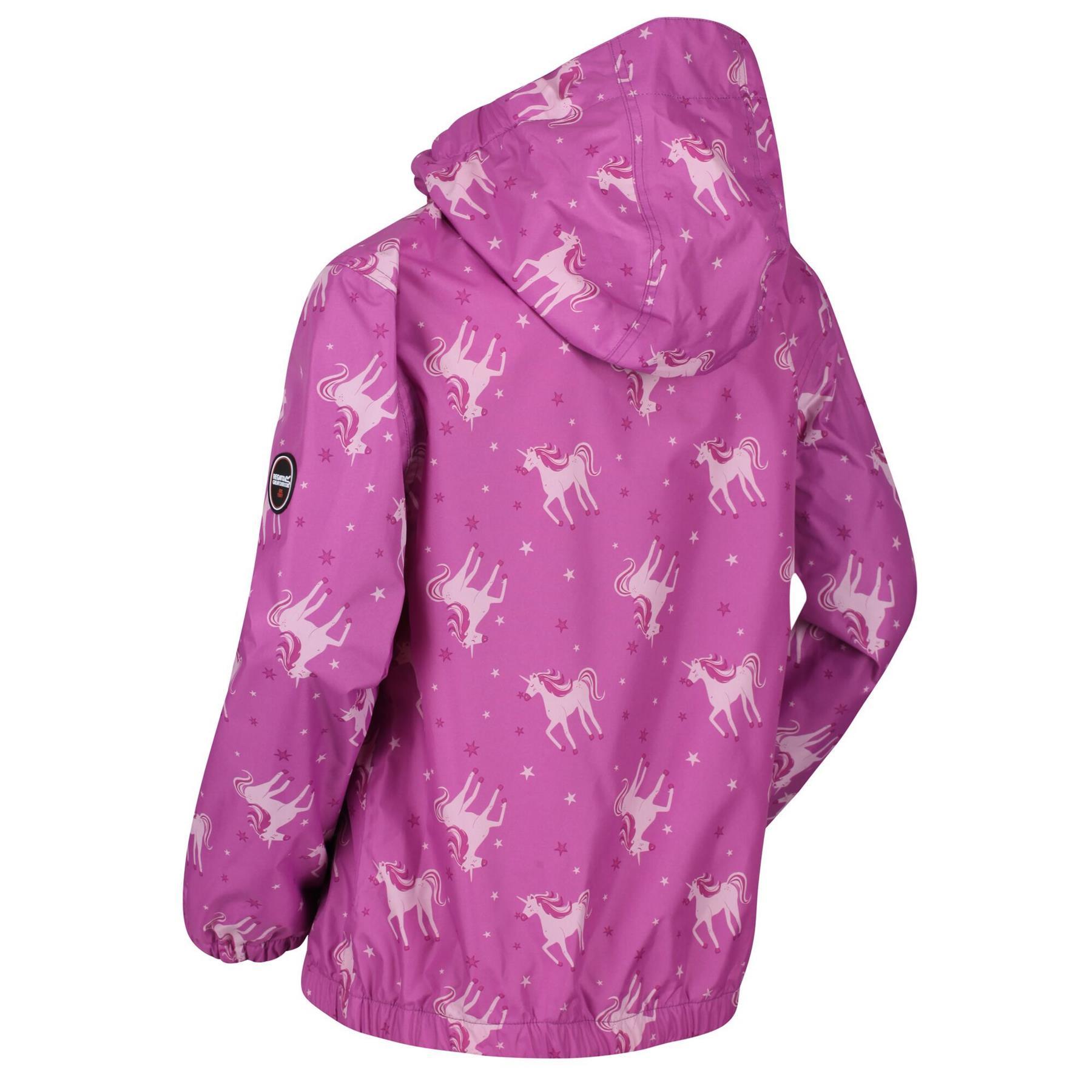 miniatuur 9 - Regatta Kids Ellison Printed Childrens Waterproof Jacket Hooded Coat