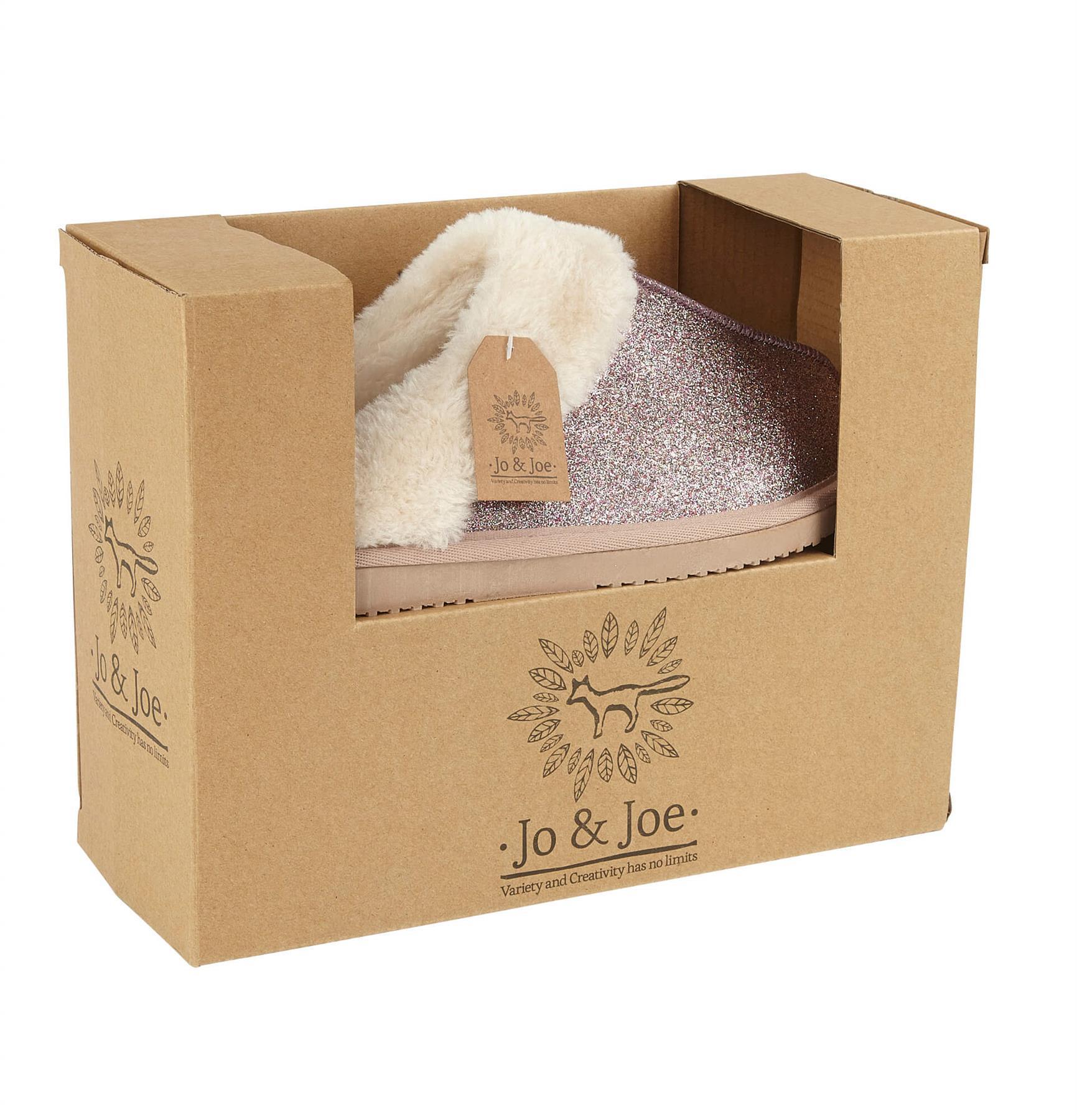 miniatuur 27 - Jo & Joe Womens Luxury Slippers Winter Warm Fur Slip On Flat Mule Bootie Girls