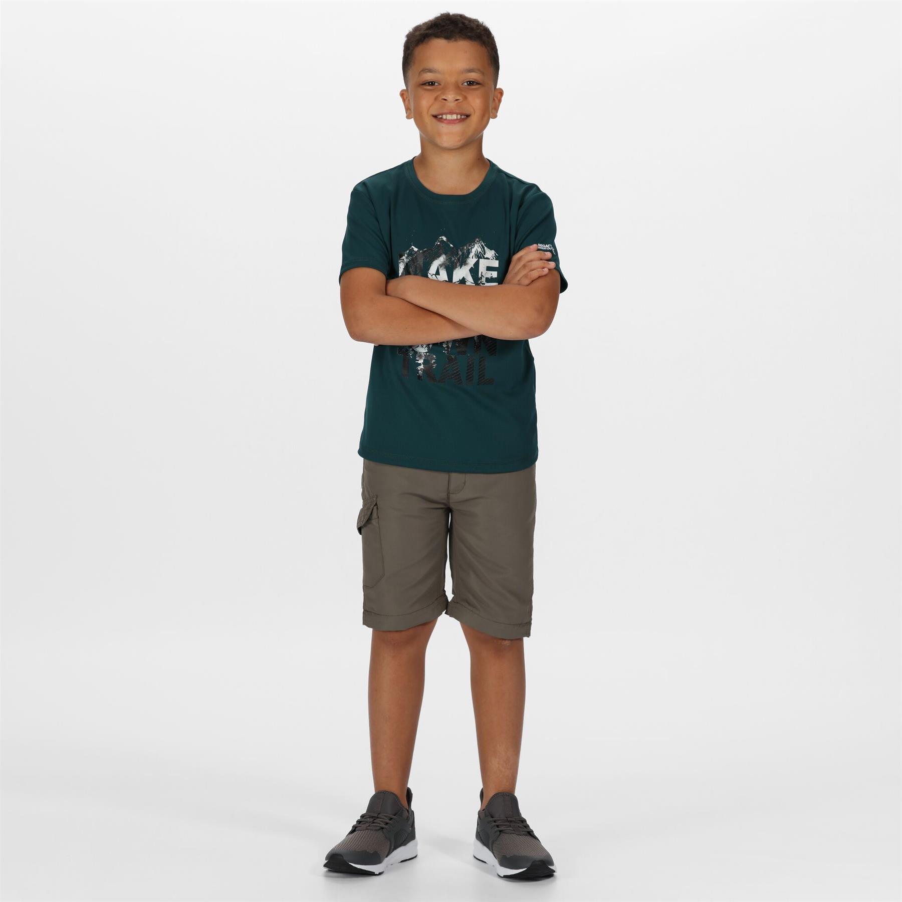miniatuur 7 - Regatta Kids Sorcer II Zip Off Convertible Trousers Boys Girls