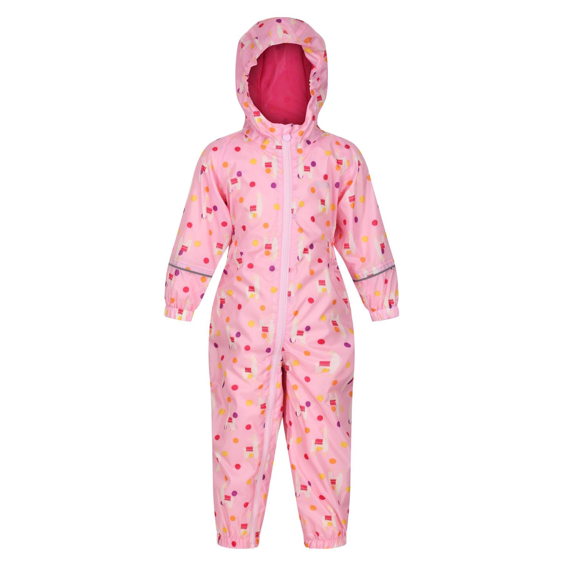 miniatuur 34 - Regatta Pobble Rain suit Waterproof All In One Childrens Kids Boys Girls