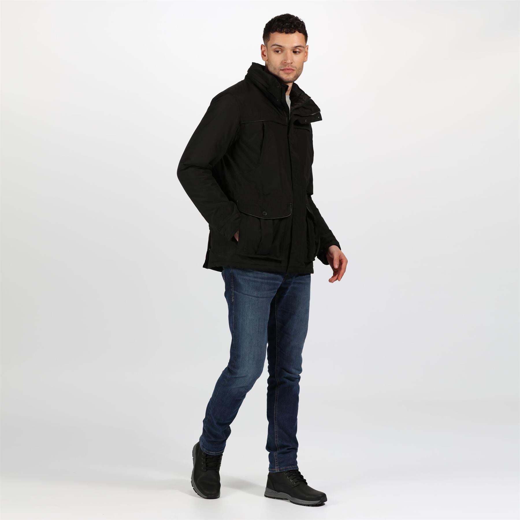 miniatuur 7 - Regatta Mens Rawson Waterproof Breathable Insulated Jacket Coat