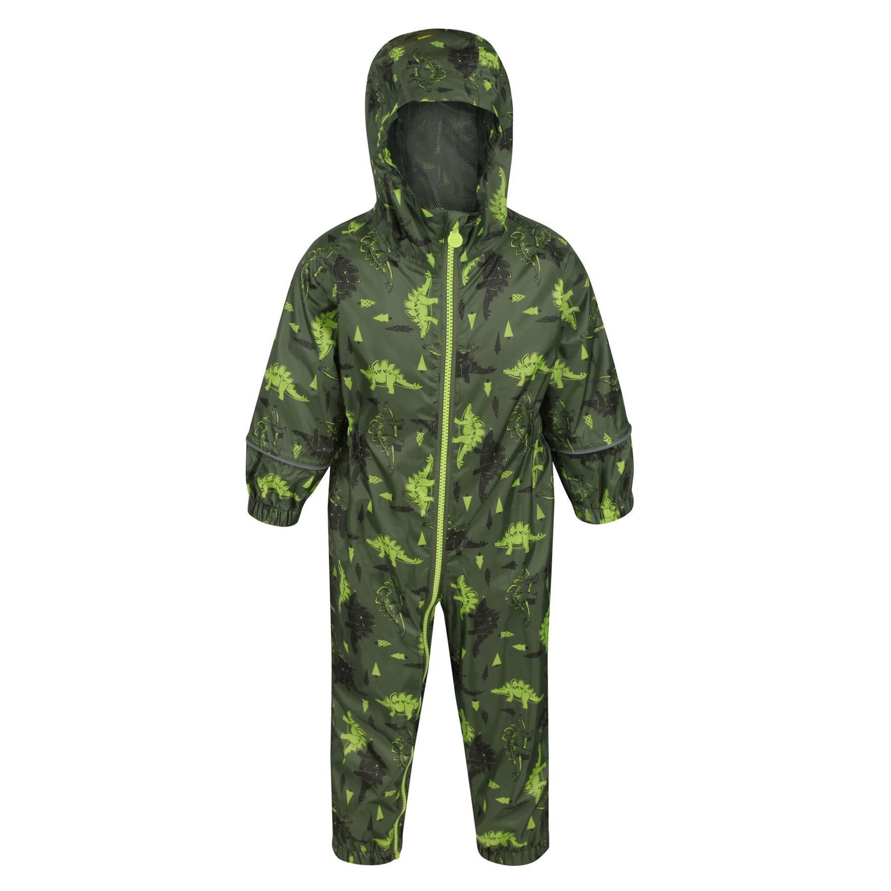 miniatuur 5 - Regatta Pobble Rain suit Waterproof All In One Childrens Kids Boys Girls