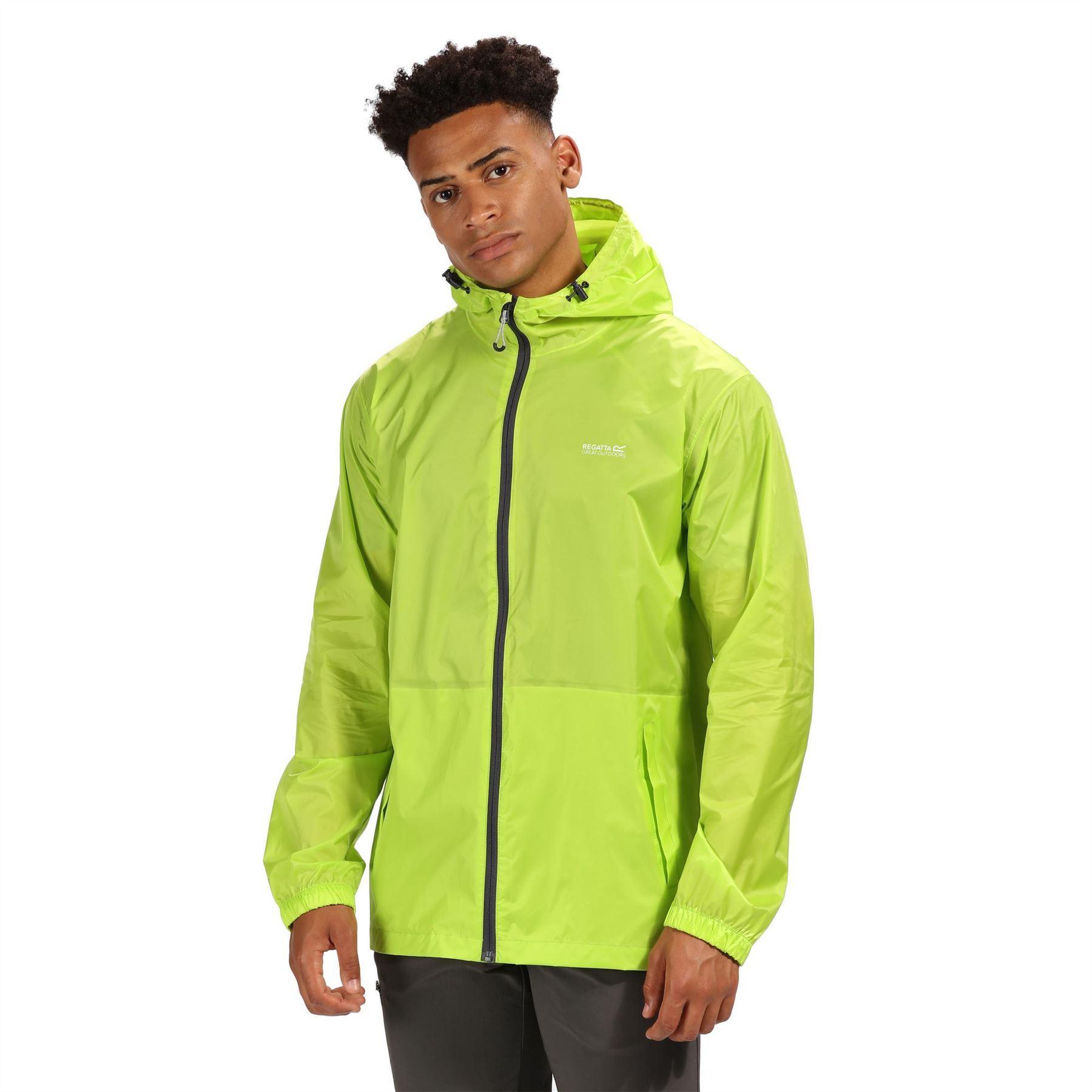miniatuur 27 - Regatta Mens Pack-it In a bag Packable Waterproof Jacket Outdoor Pack a mac
