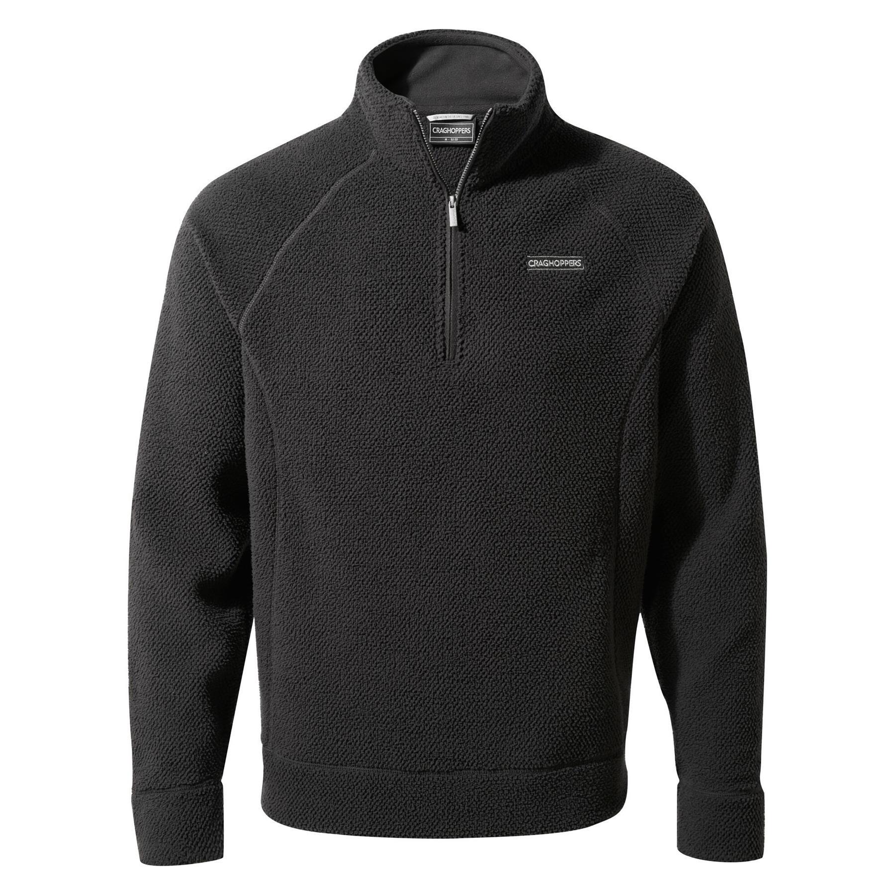 miniatuur 8 - Craghopper Mens Cason Fleece Half Zip Bobble Soft Jumper Pullover Sweater