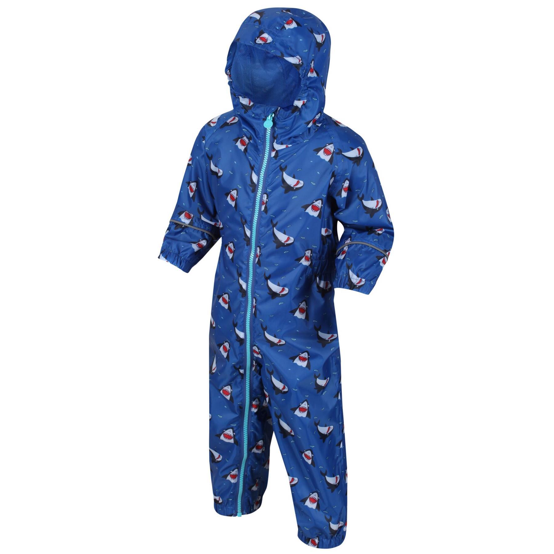 miniatuur 12 - Regatta Pobble Rain suit Waterproof All In One Childrens Kids Boys Girls