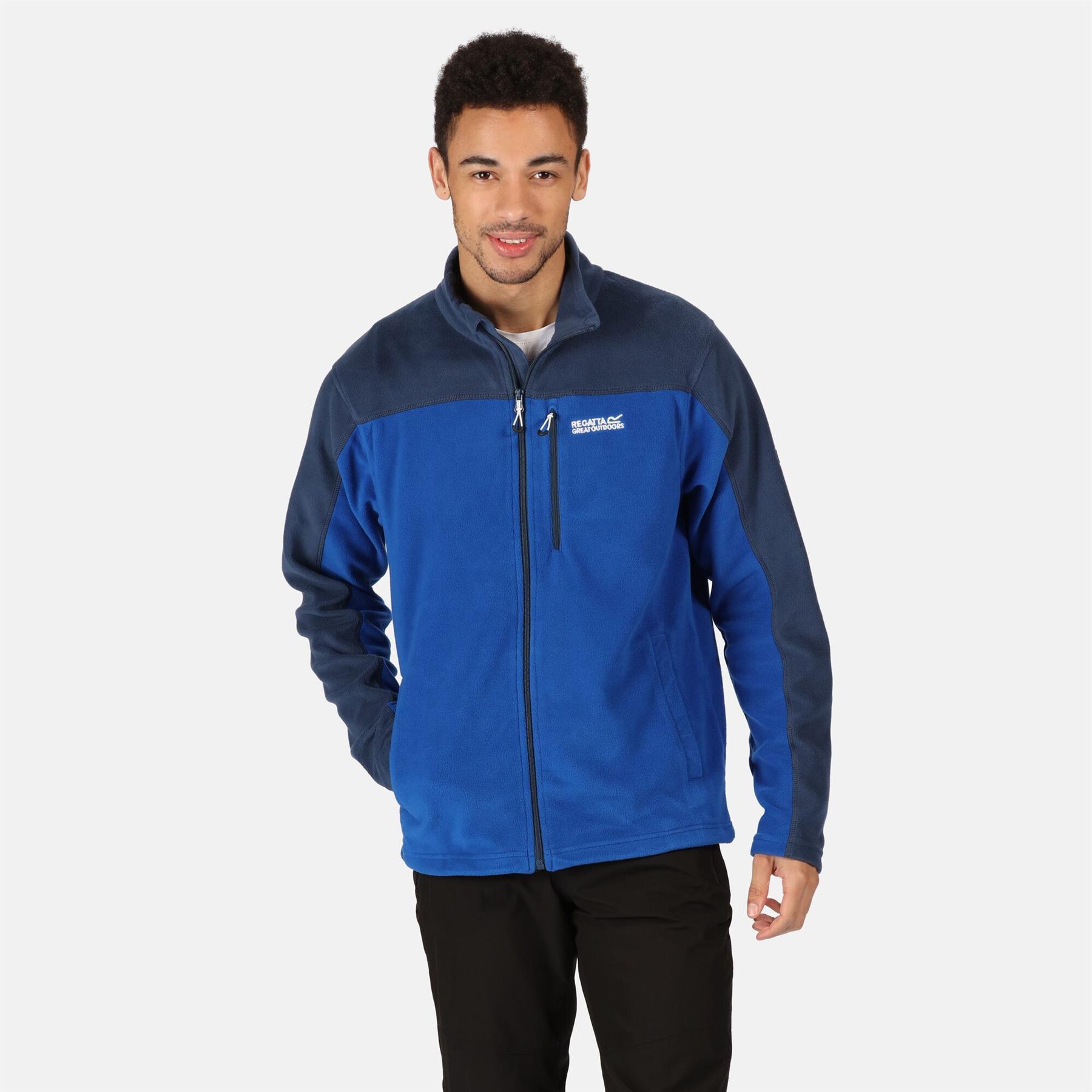 miniatuur 5 - Regatta Mens Fellard Fleece Jacket Full Zip Up Coat S M L XL 2XL 3XL 4XL