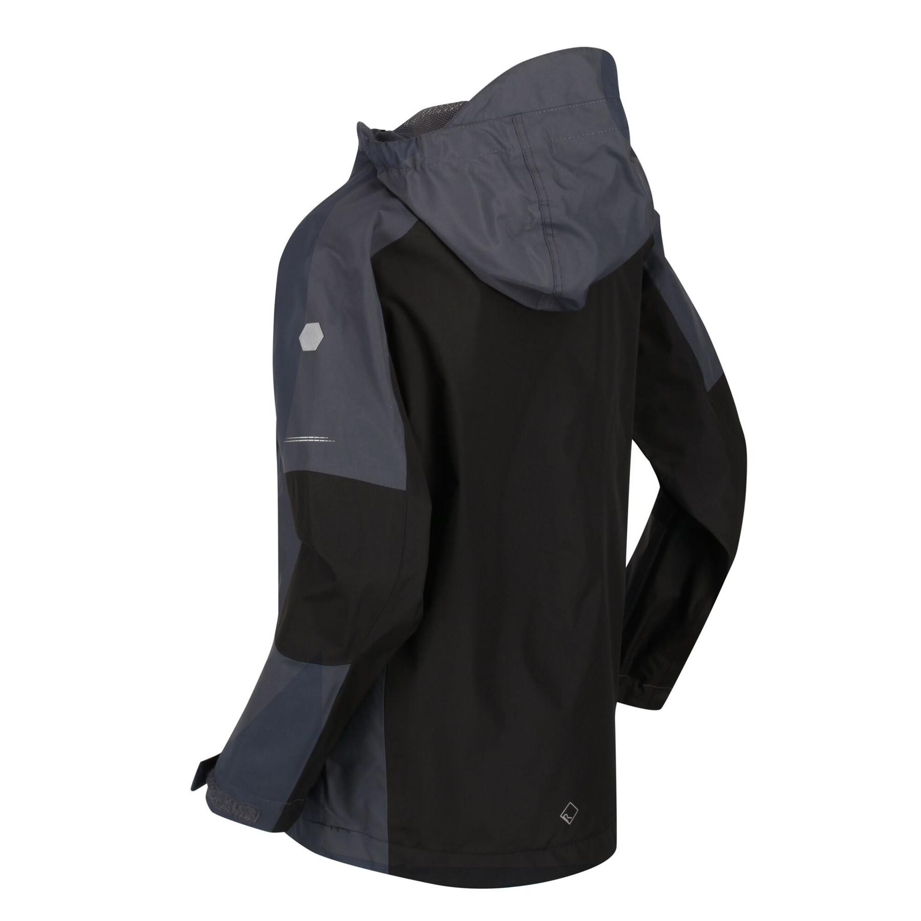 miniatuur 8 - Regatta Kids Calderdale II Waterproof Hooded Zip Pocket Jacket Boy Girls Coat