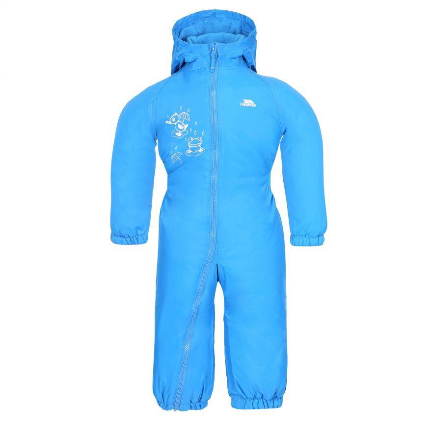 miniatuur 2 - Trespass Babies Infants Dripdrop Padded Waterproof Outdoor Puddle Suit Rain Suit