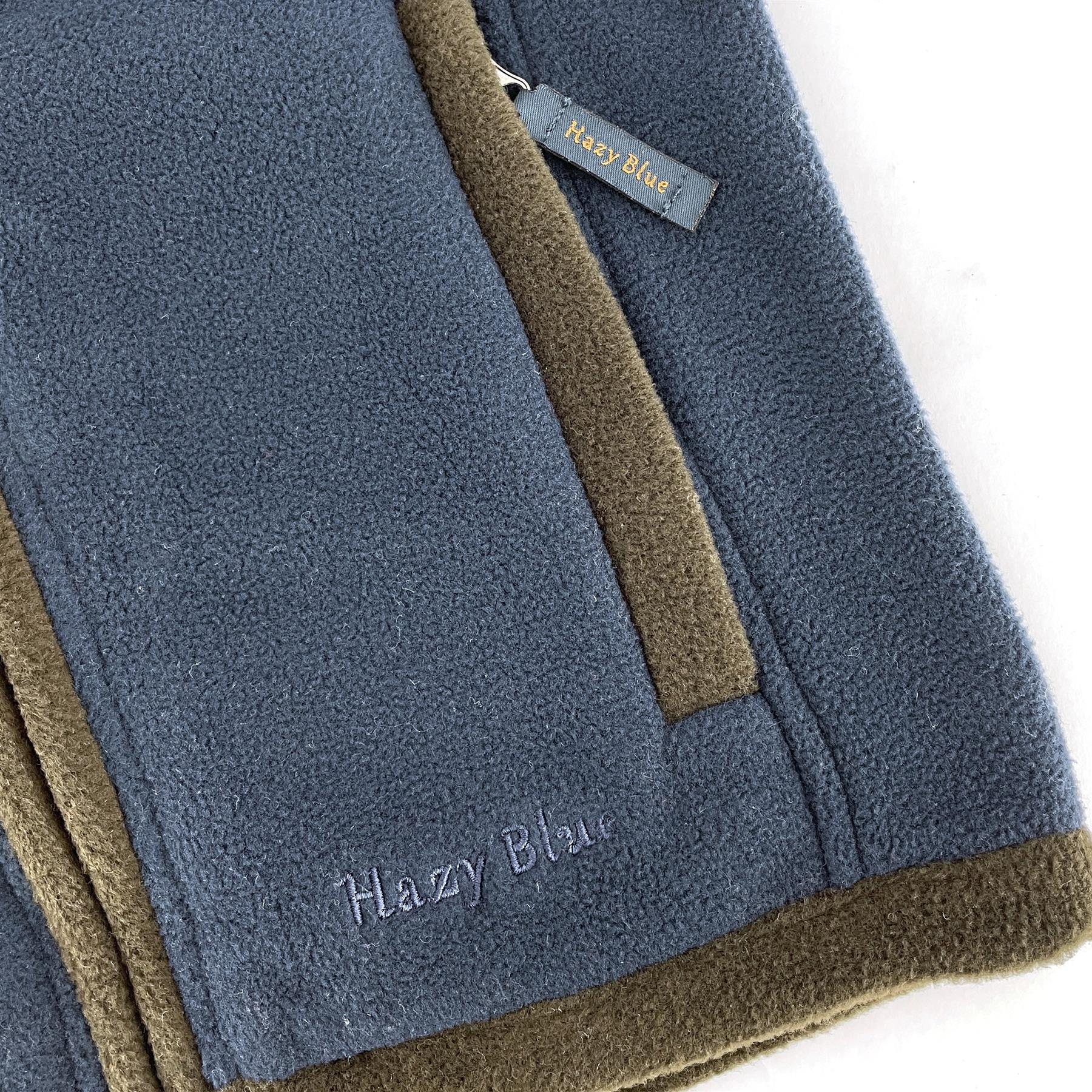 miniatuur 9 - Hazy Blue Kids Angus Pheasant Bodywarmer Boys Girls Gilet Vest Country Fleece