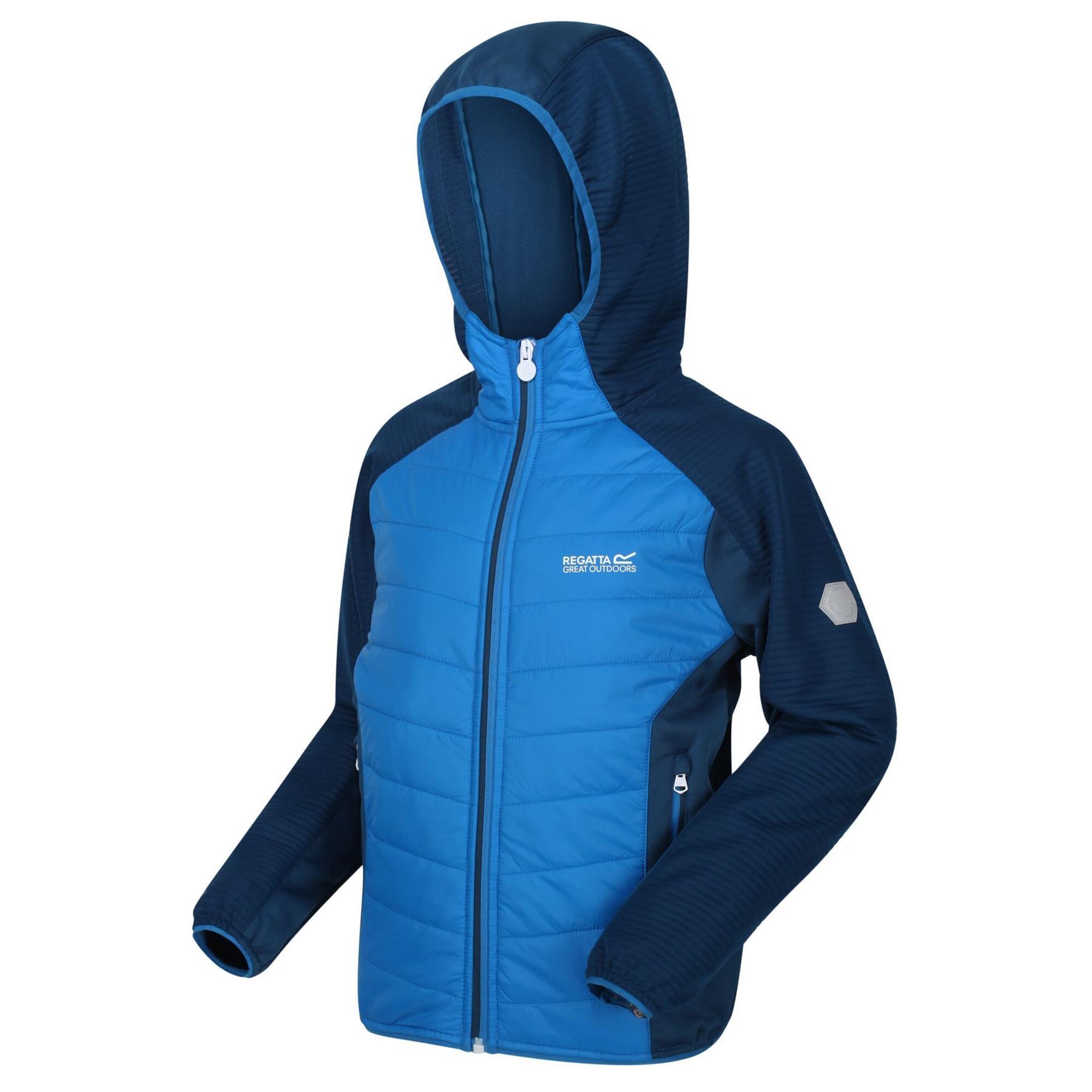 miniatuur 5 - Regatta Kids Kielder IV Lightweight Hybrid Softshell Jacket Boys Girls Coat