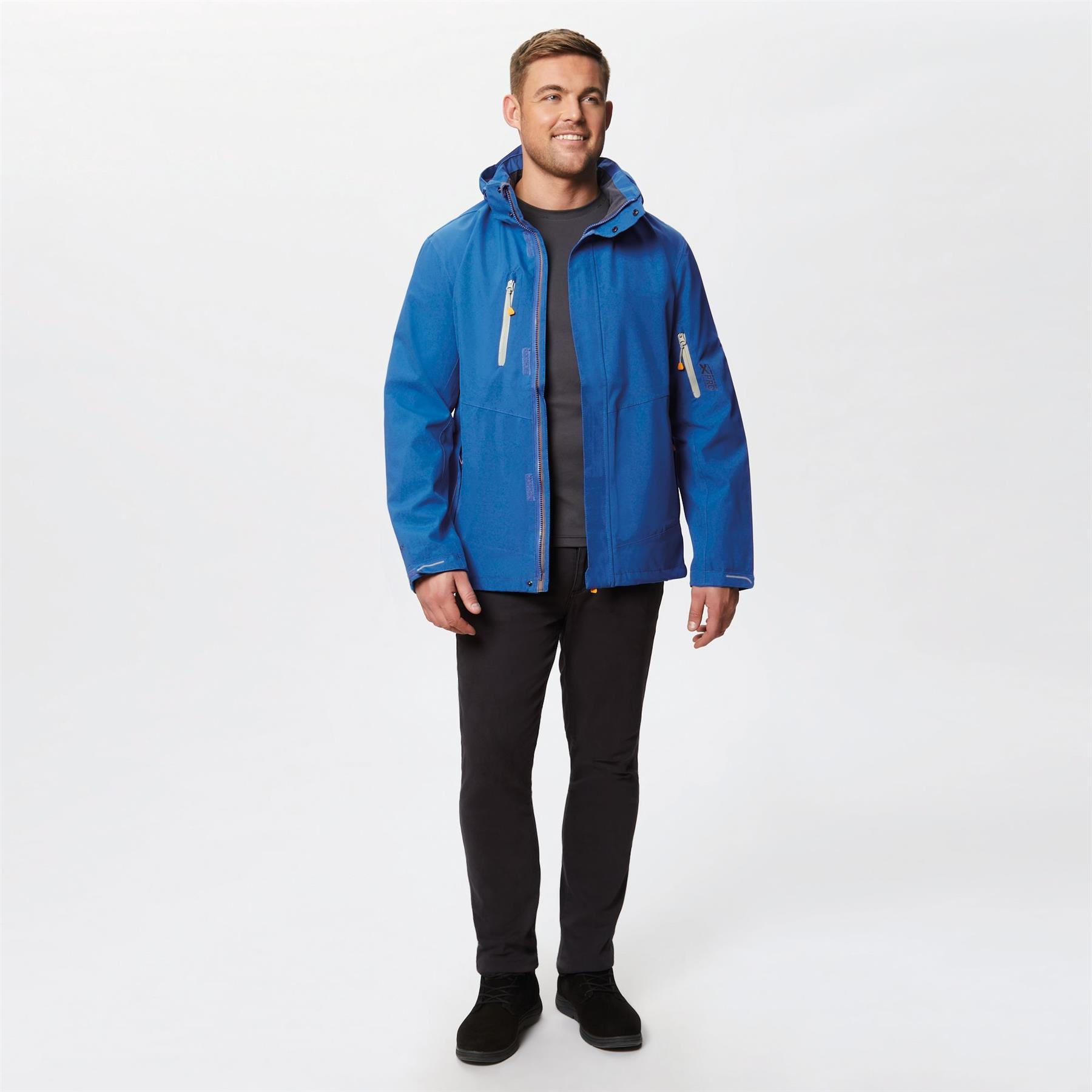 miniatuur 9 - Regatta Mens X-Pro Exosphere Stretch Waterproof Hooded Jacket