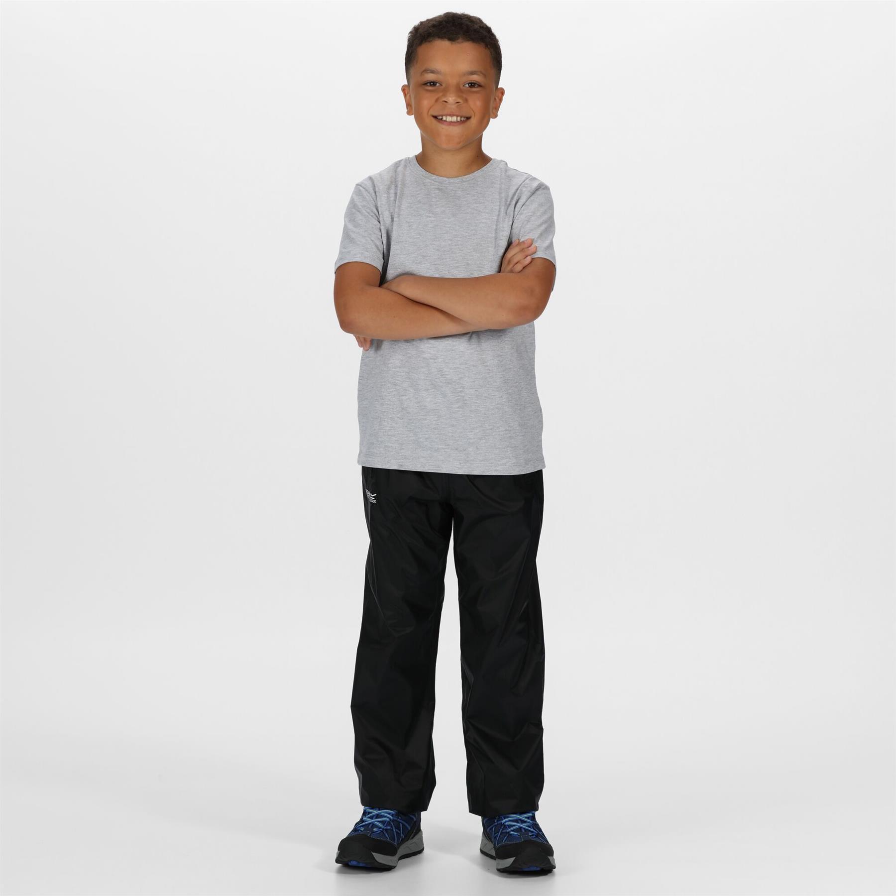 miniatuur 5 - Regatta Kids Pack It Waterproof Packable Overtrousers Boys Girls Trousers