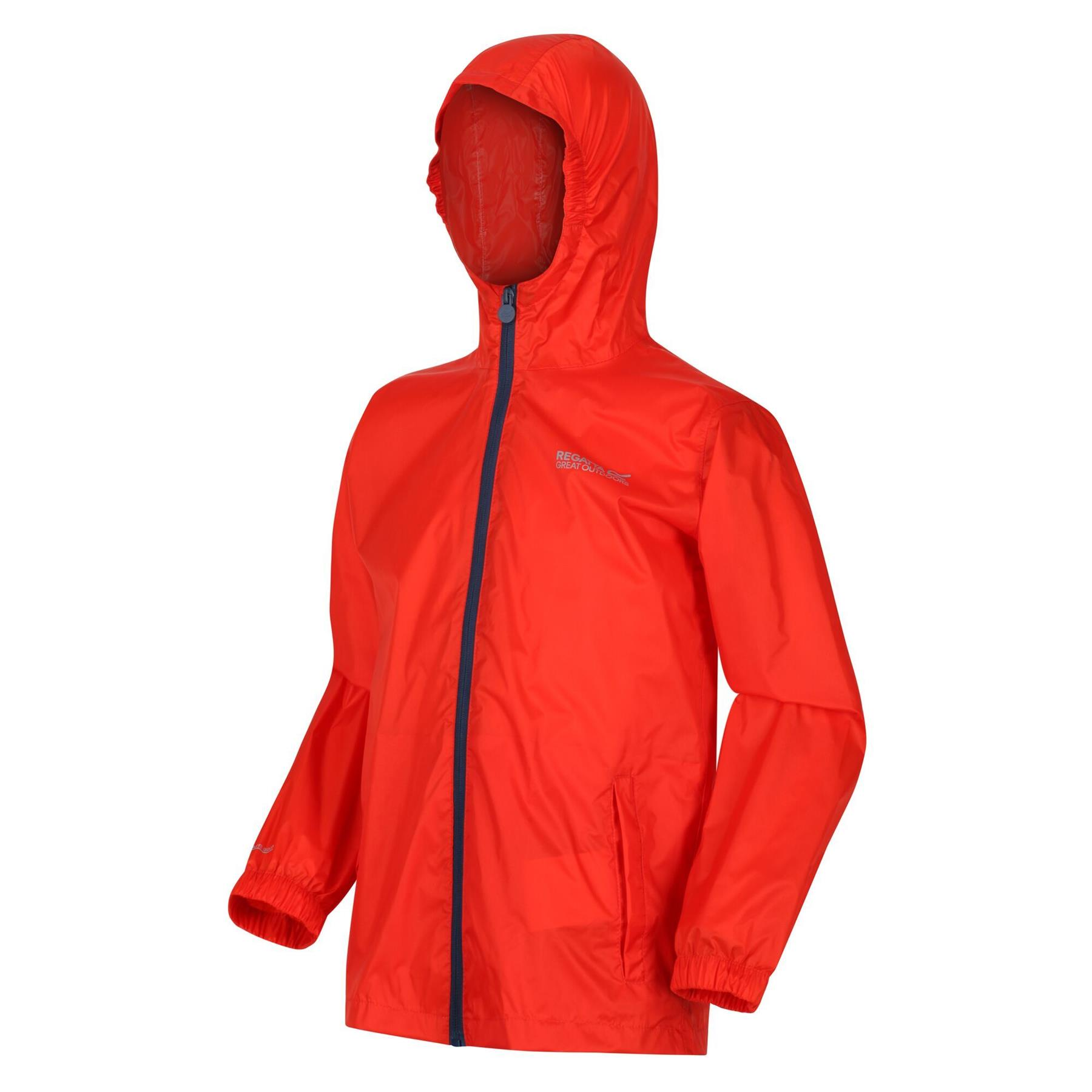 miniatuur 6 - Regatta Kids Pack it Jacket II Lightweight Waterproof Packaway Jacket Boys Girls