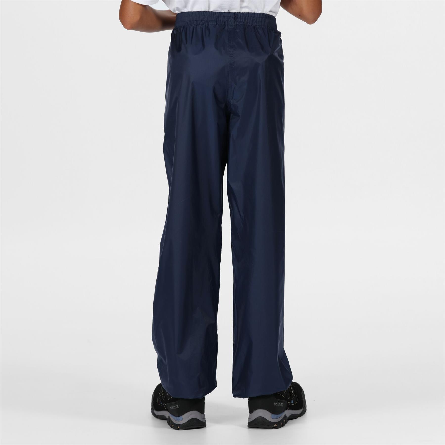 miniatuur 9 - Regatta Kids Pack It Waterproof Packable Overtrousers Boys Girls Trousers