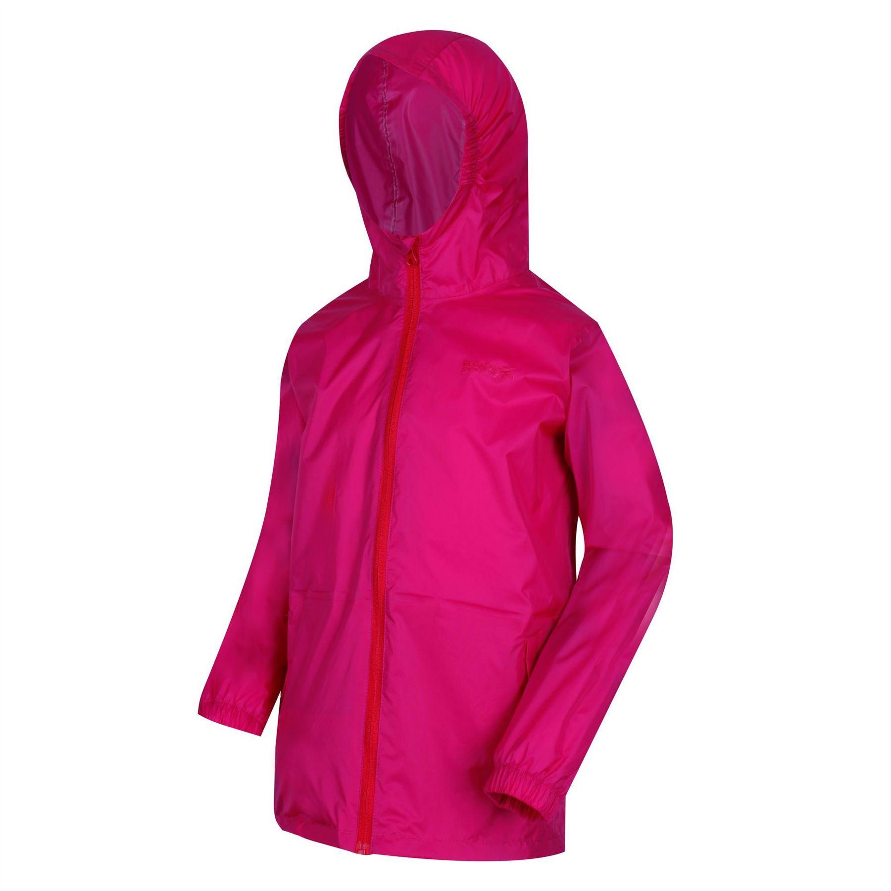 miniatuur 14 - Regatta Kids Pack it Jacket II Lightweight Waterproof Packaway Jacket Boys Girls