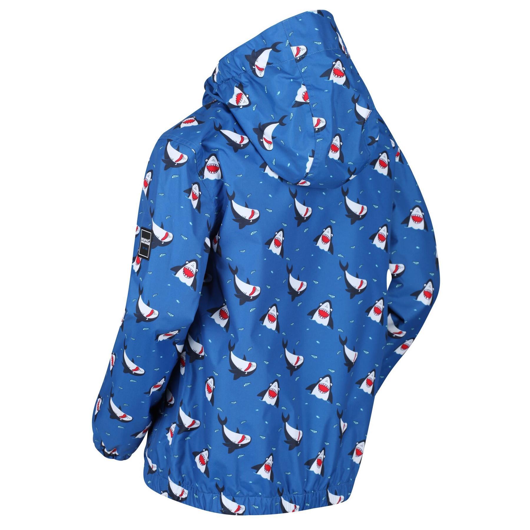 miniatuur 5 - Regatta Kids Ellison Printed Childrens Waterproof Jacket Hooded Coat