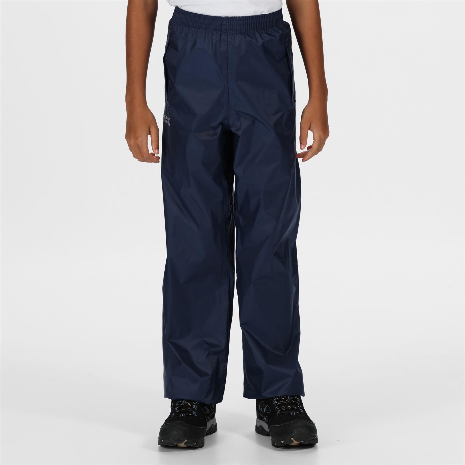miniatuur 8 - Regatta Kids Pack It Waterproof Packable Overtrousers Boys Girls Trousers