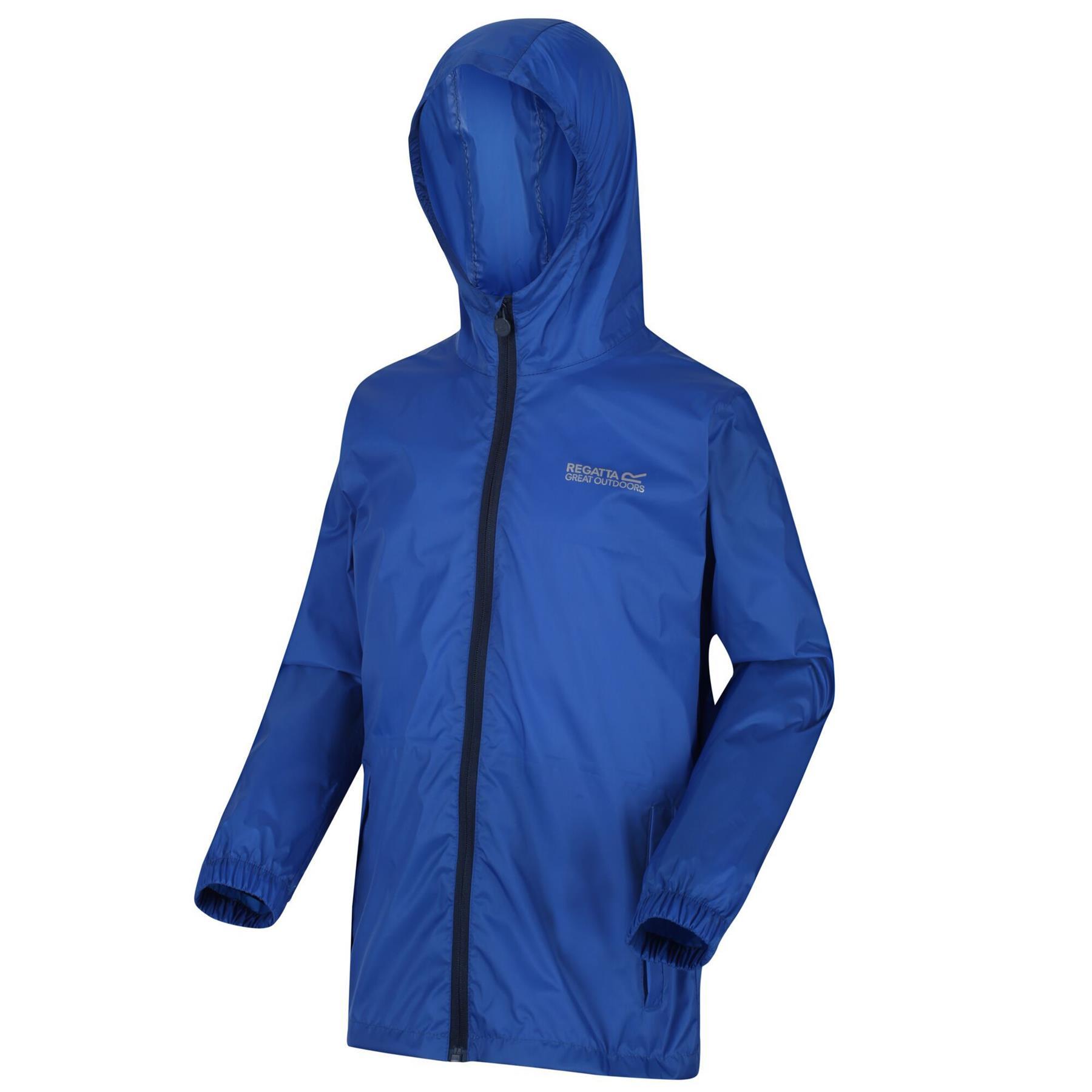 miniatuur 20 - Regatta Kids Pack it Jacket II Lightweight Waterproof Packaway Jacket Boys Girls