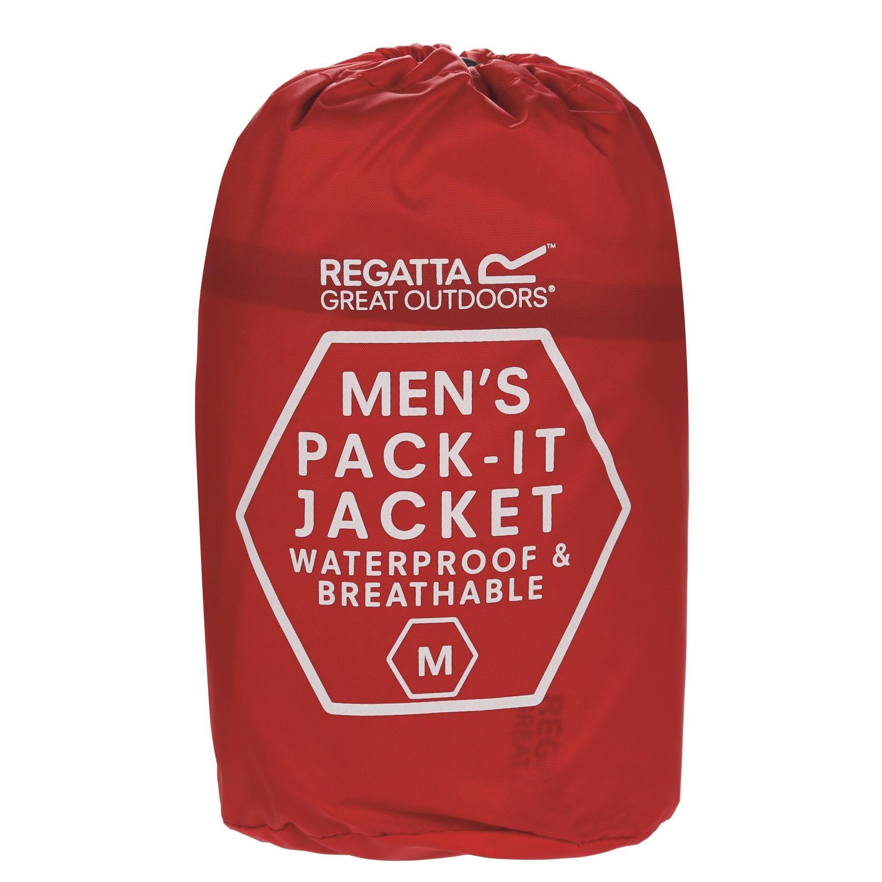 miniatuur 14 - Regatta Mens Pack-it In a bag Packable Waterproof Jacket Outdoor Pack a mac
