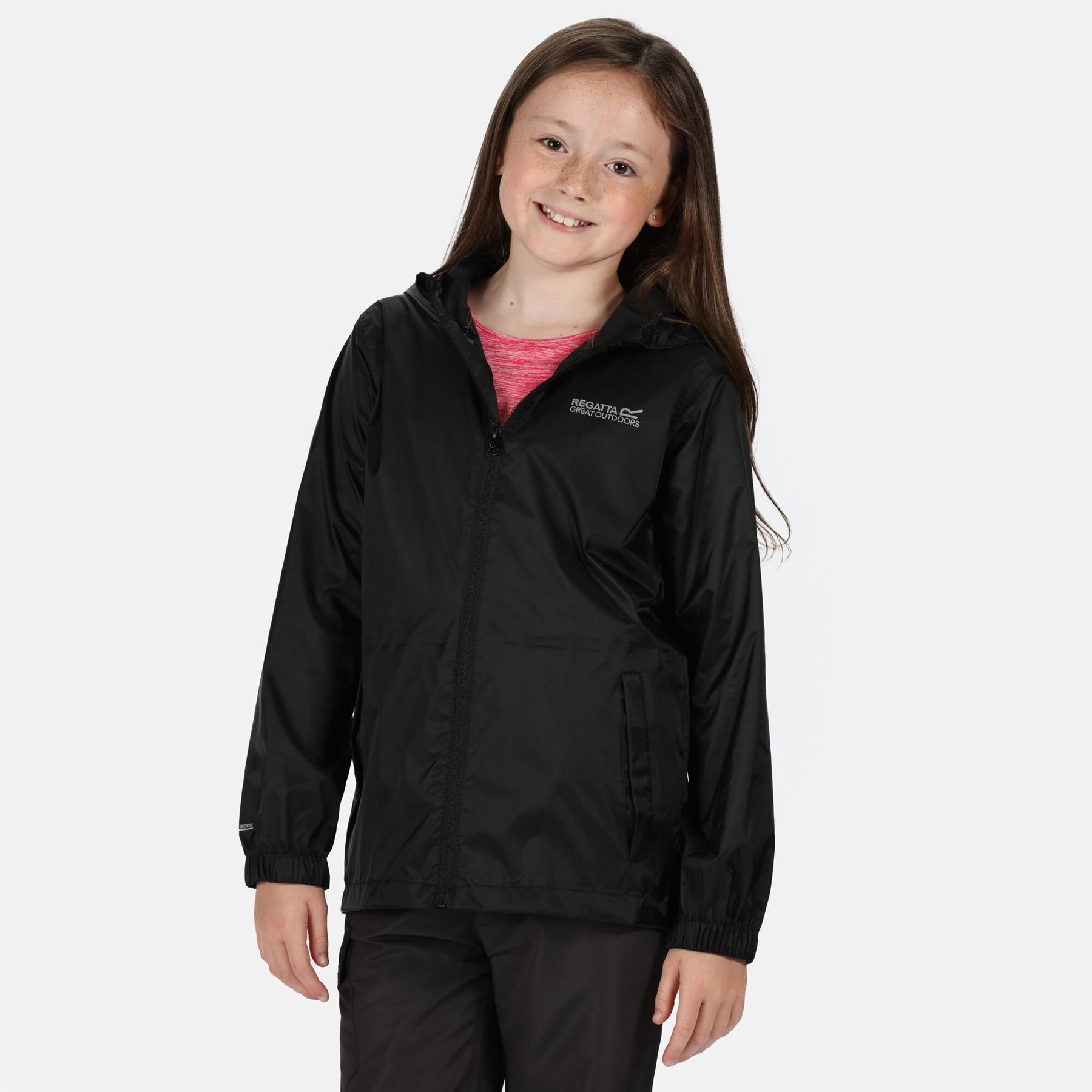 miniatuur 13 - Regatta Kids Pack it Jacket II Lightweight Waterproof Packaway Jacket Boys Girls