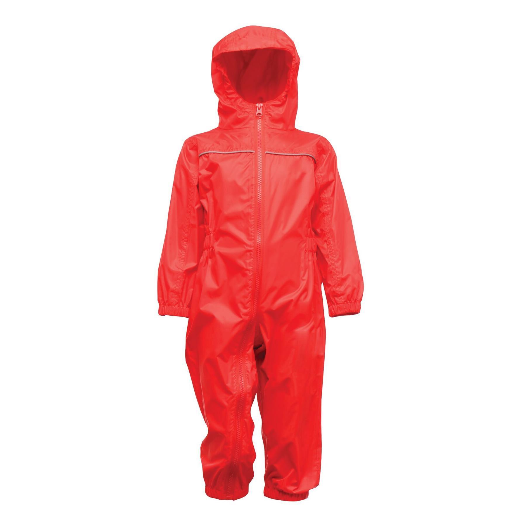 miniatuur 6 - Regatta Kids Rain Suit Puddle Paddle Boys Girls All in One Splash Waterproof