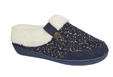 miniatuur 12 - Jo & Joe Womens Luxury Slippers Winter Warm Fur Slip On Flat Mule Bootie Girls