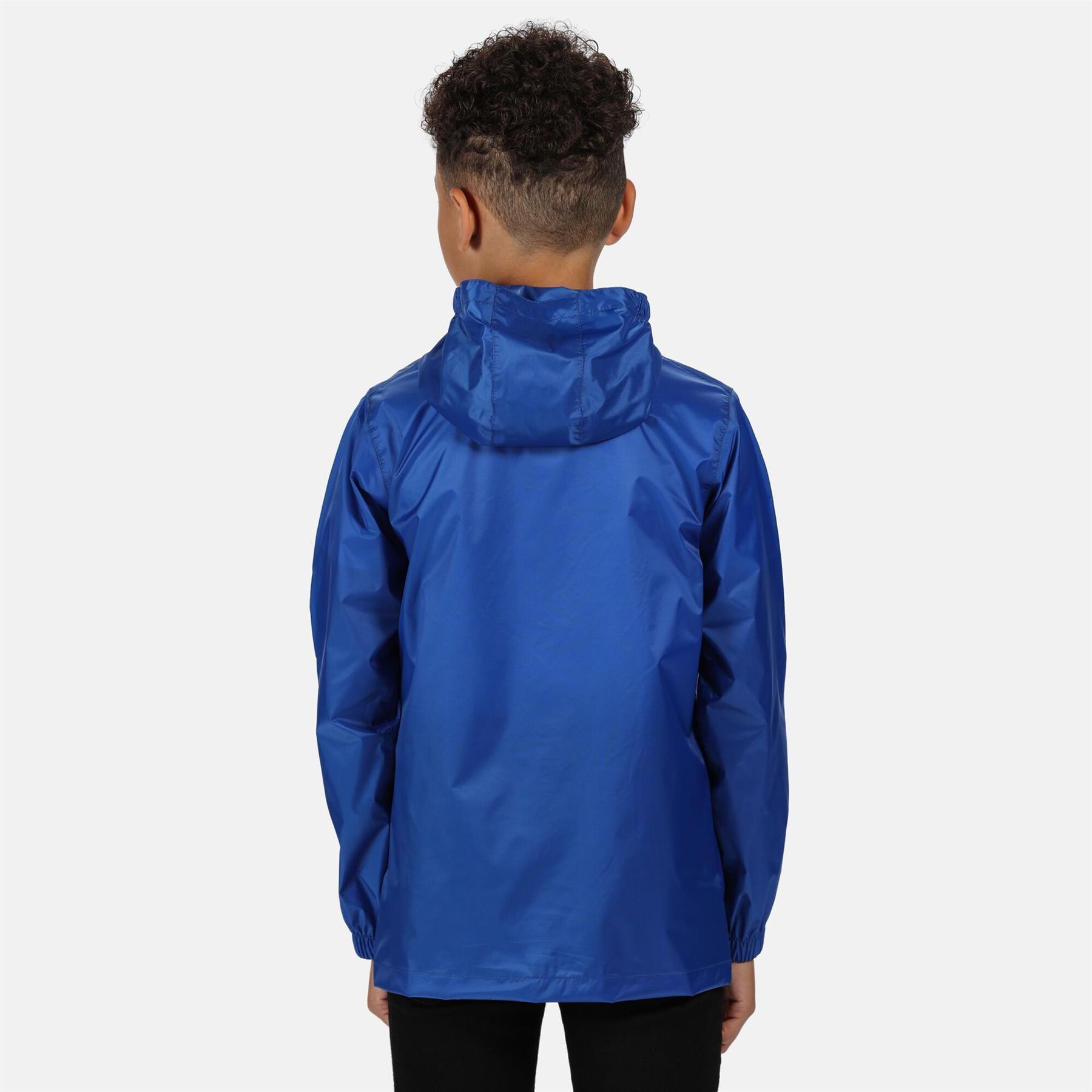 miniatuur 19 - Regatta Kids Pack it Jacket II Lightweight Waterproof Packaway Jacket Boys Girls