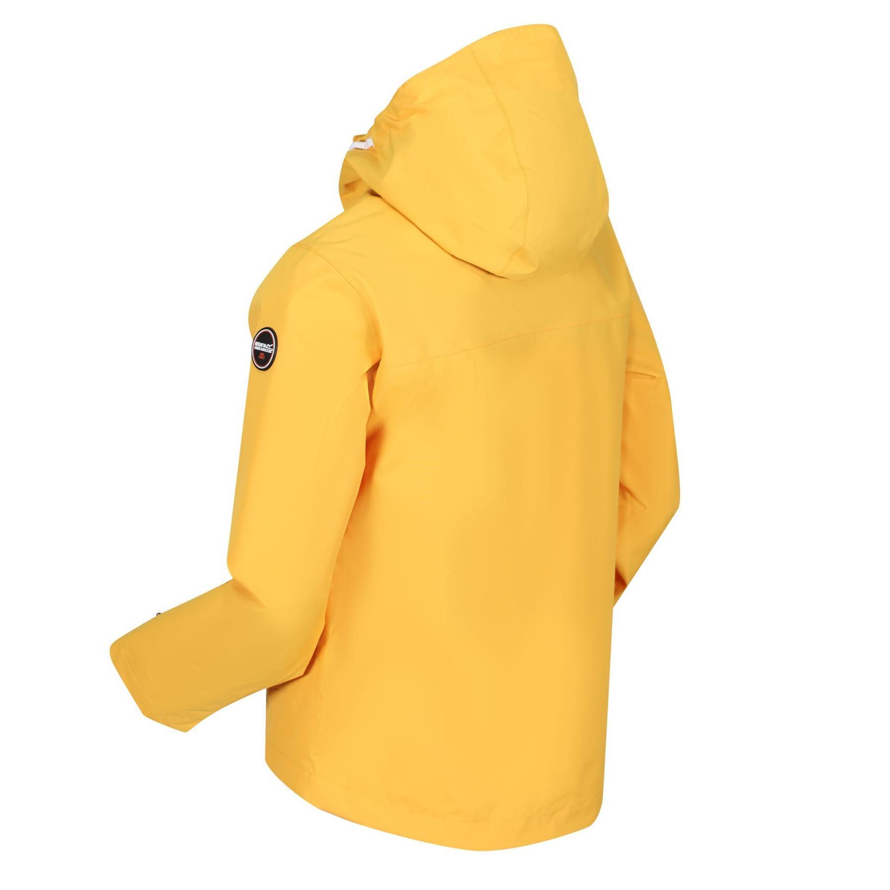 miniatuur 9 - Regatta Kids Bibiana Waterproof Hooded Zip Jacket Girls Boys Rain Coat