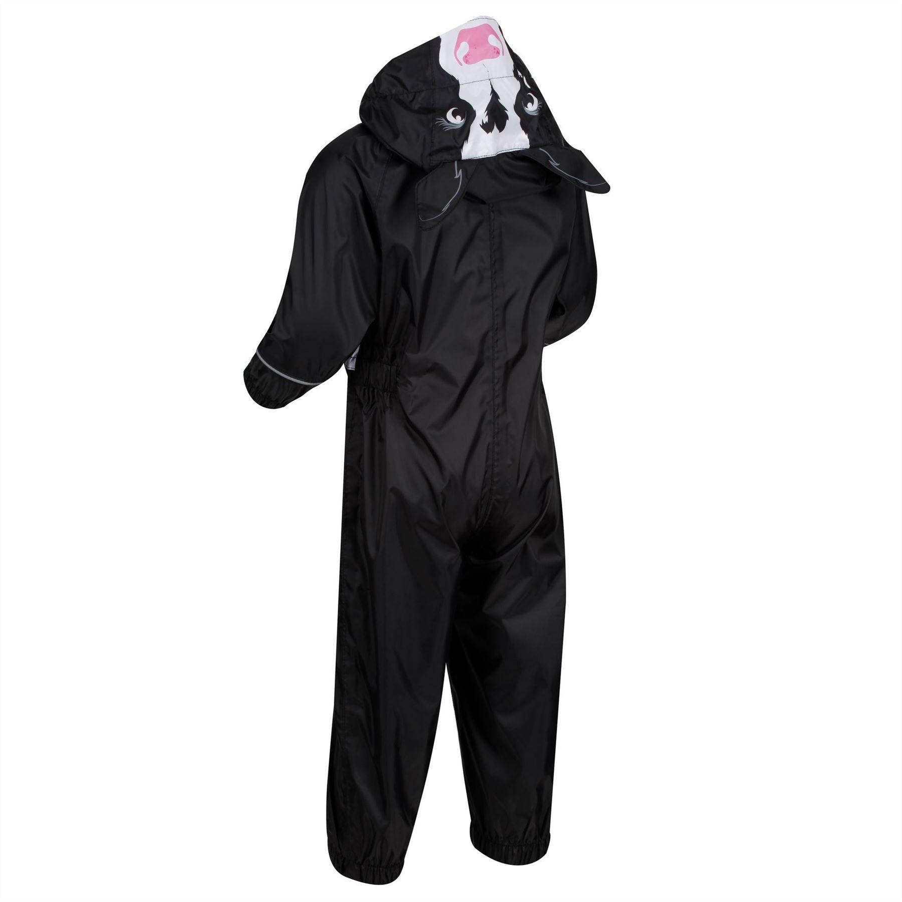 miniatuur 3 - Regatta Kids Charco All in Onezee Waterproof Puddle Suit Animal style Boys Girls