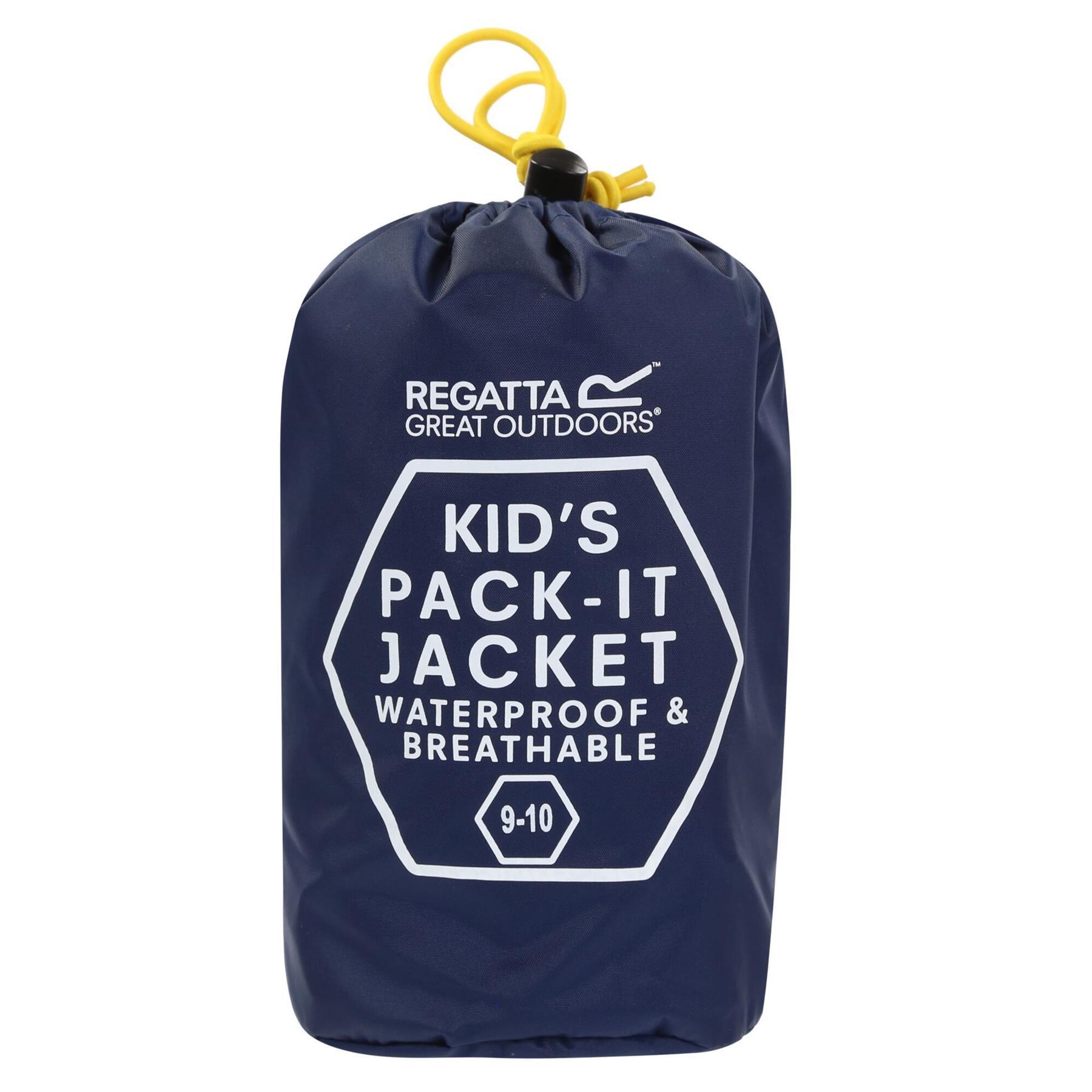 miniatuur 17 - Regatta Kids Pack it Jacket II Lightweight Waterproof Packaway Jacket Boys Girls