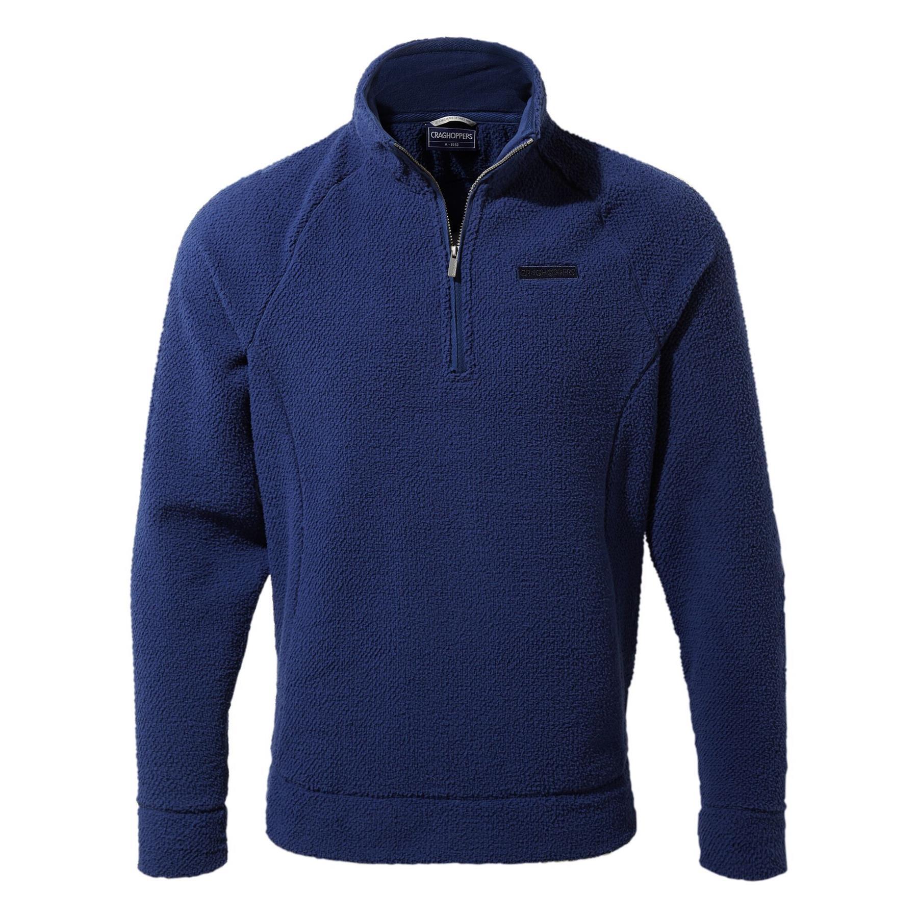 miniatuur 12 - Craghopper Mens Cason Fleece Half Zip Bobble Soft Jumper Pullover Sweater