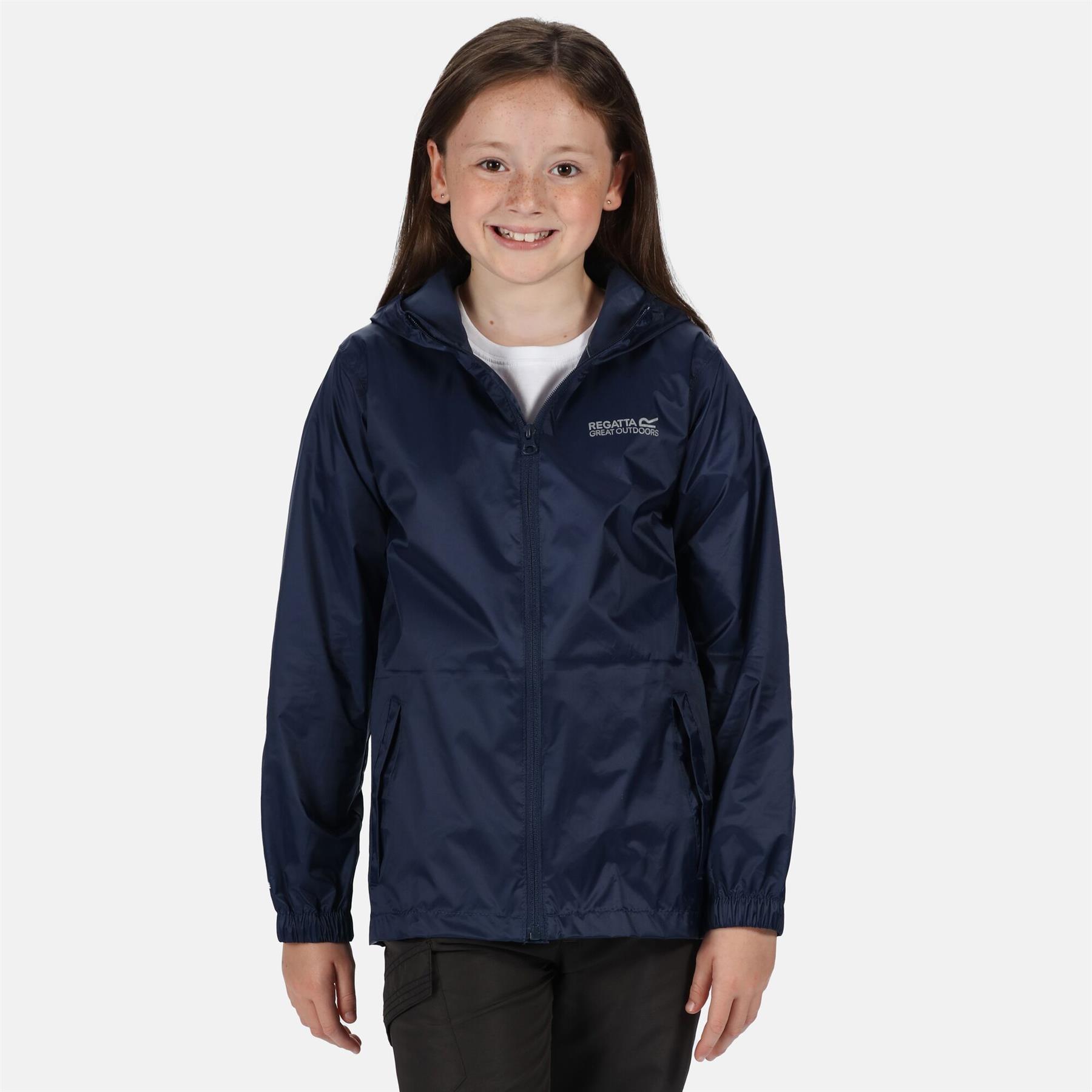 miniatuur 15 - Regatta Kids Pack it Jacket II Lightweight Waterproof Packaway Jacket Boys Girls