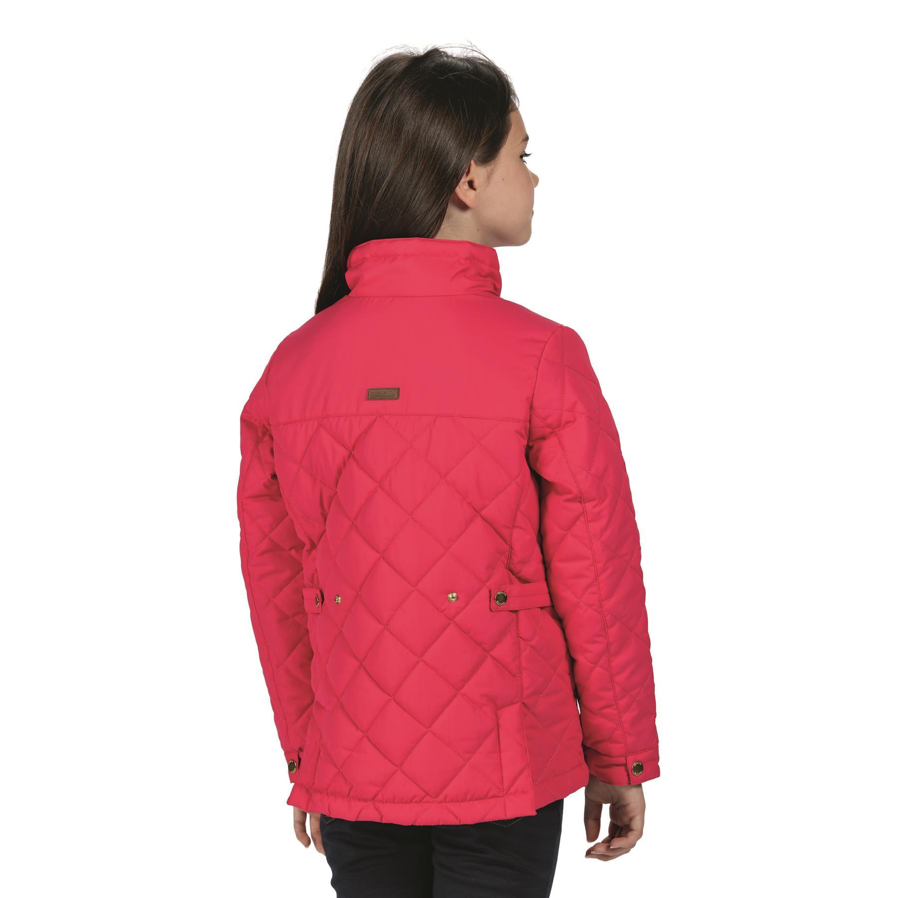 miniatuur 4 - Regatta Kids Zalenka Quilted Insulated Zipped Pocket Jacket Boys Girls
