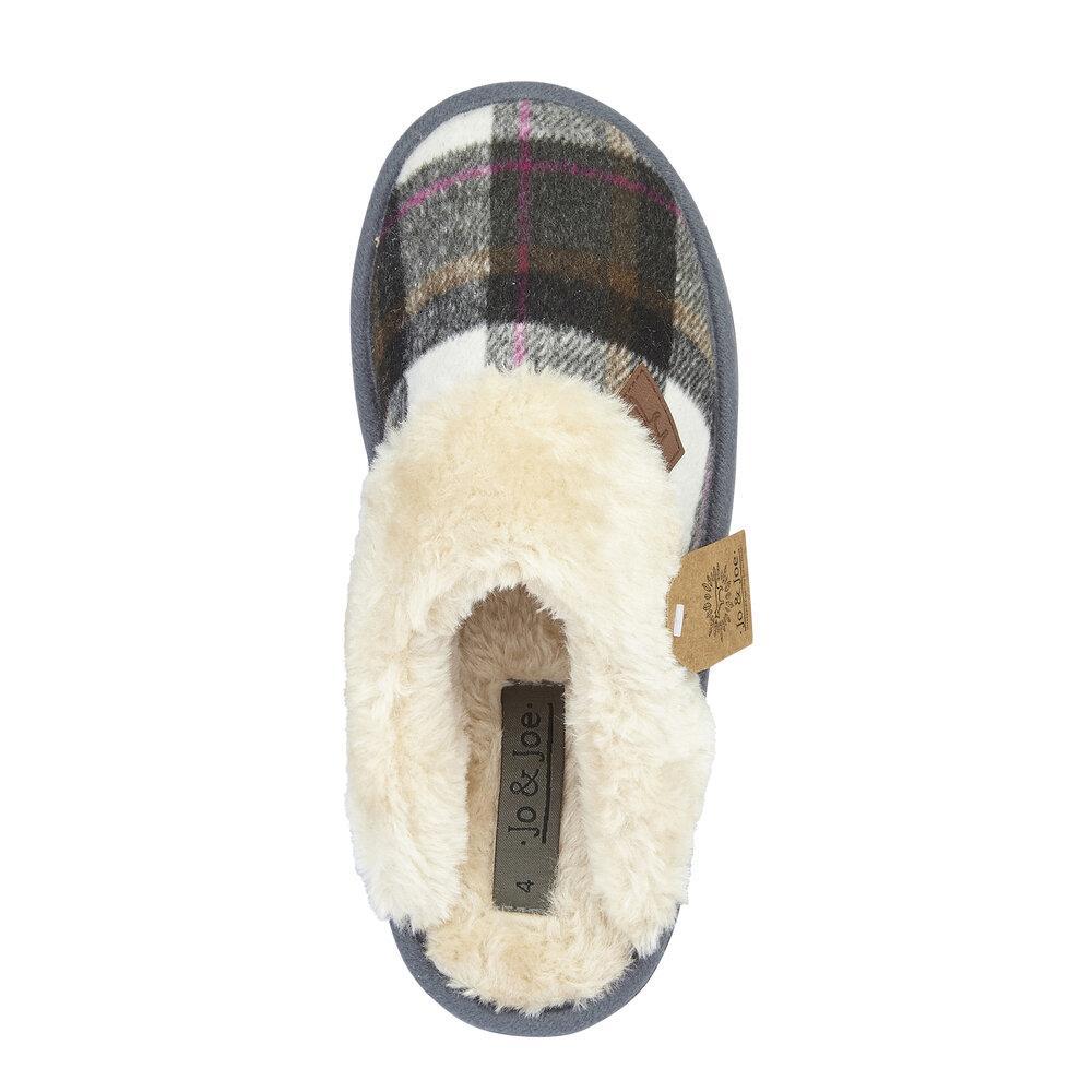 miniatuur 19 - Jo & Joe Womens Luxury Slippers Winter Warm Fur Slip On Flat Mule Bootie Girls