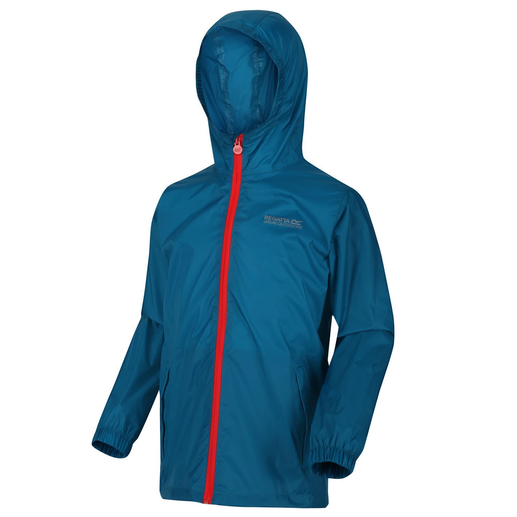 Regatta Pack-It II Kids Jacket Waterproof Breathable Packaway Raincoat