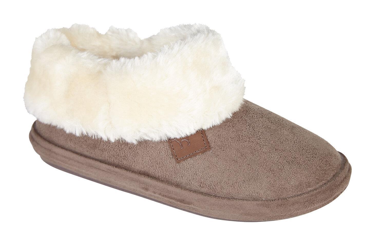 miniatuur 7 - Jo & Joe Womens Luxury Slippers Winter Warm Fur Slip On Flat Mule Bootie Girls