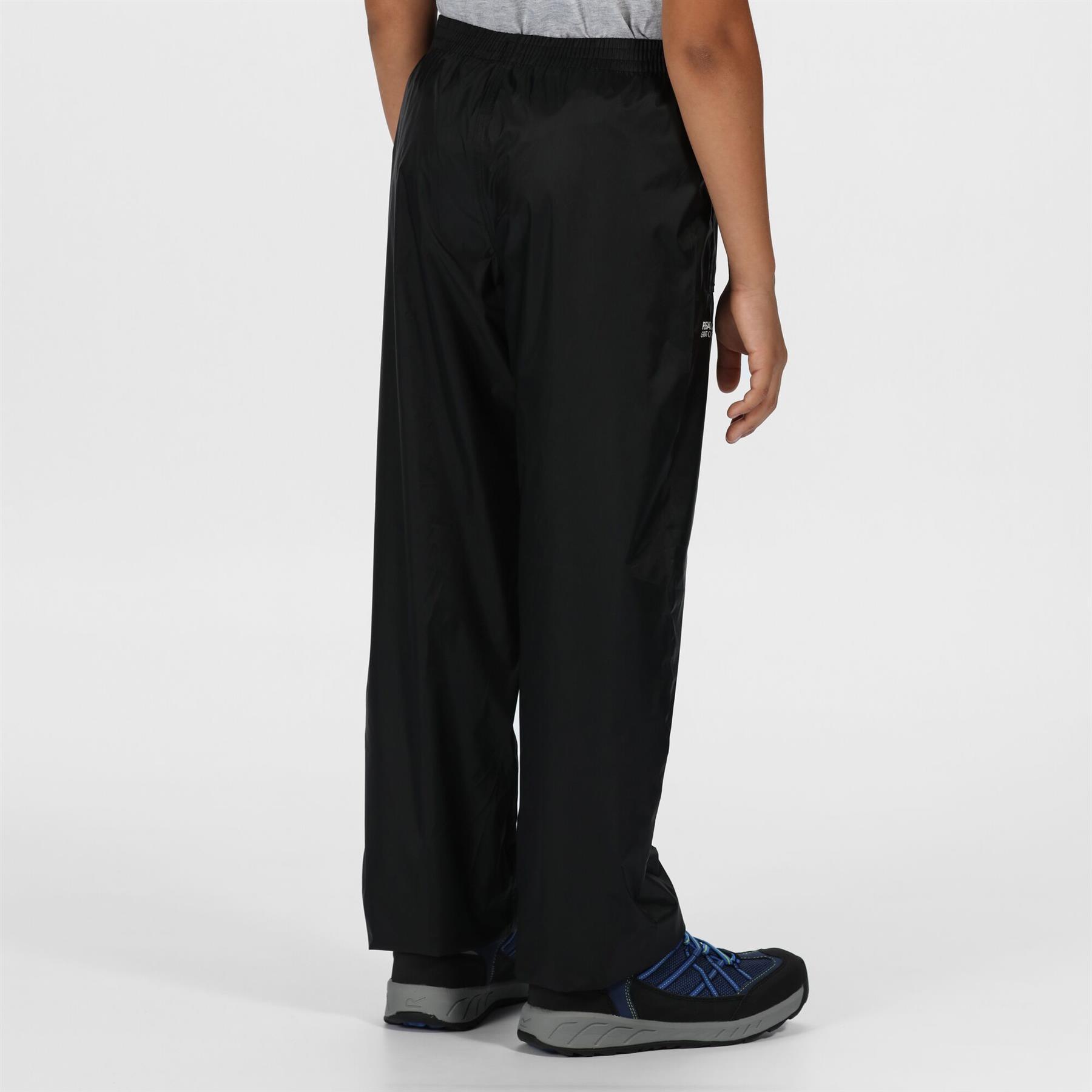 miniatuur 4 - Regatta Kids Pack It Waterproof Packable Overtrousers Boys Girls Trousers