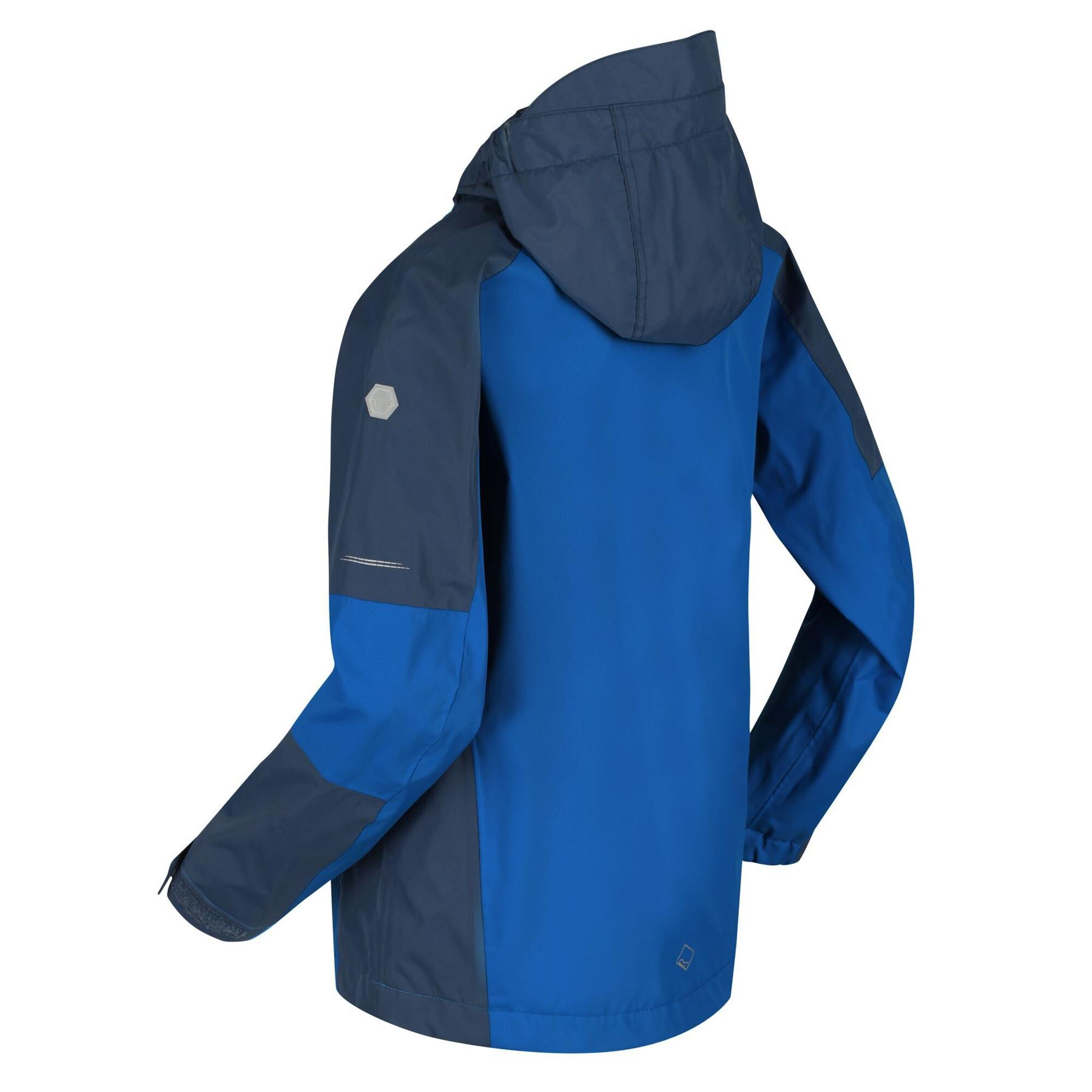 miniatuur 4 - Regatta Kids Calderdale II Waterproof Hooded Zip Pocket Jacket Boy Girls Coat